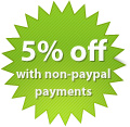 5% discount for non paypal payments