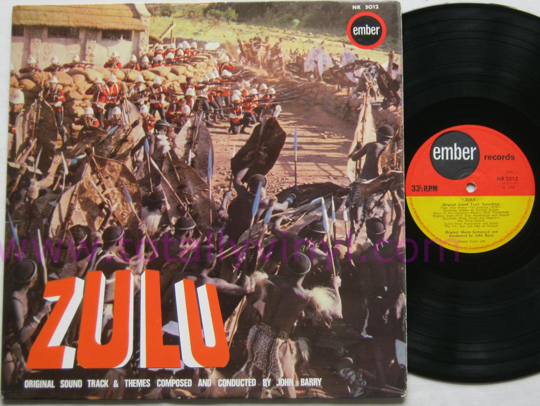 Totally Vinyl Records Barry John Zulu Soundtrack Lp
