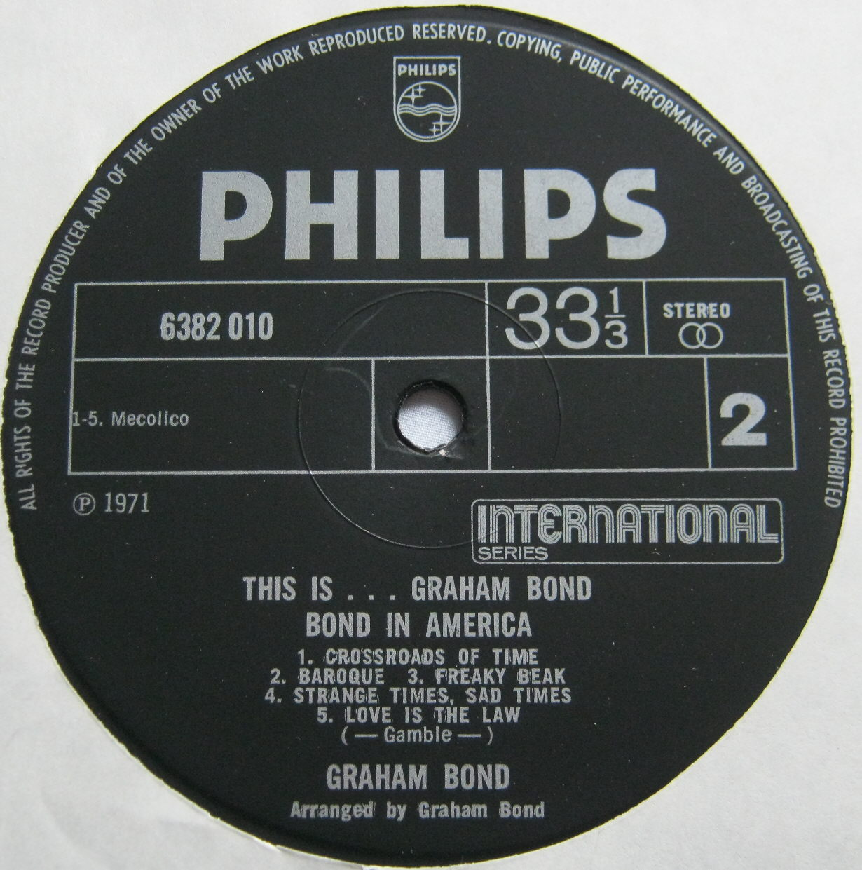 Totally Vinyl Records Bond Graham This Is Graham