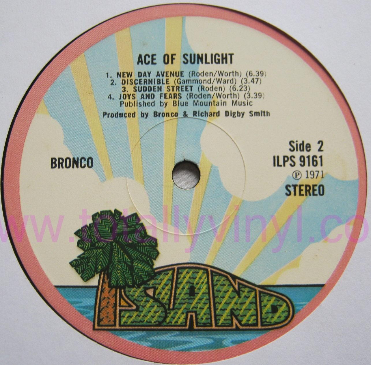 Bronco - Ace Of Sunlight LP Vinyl