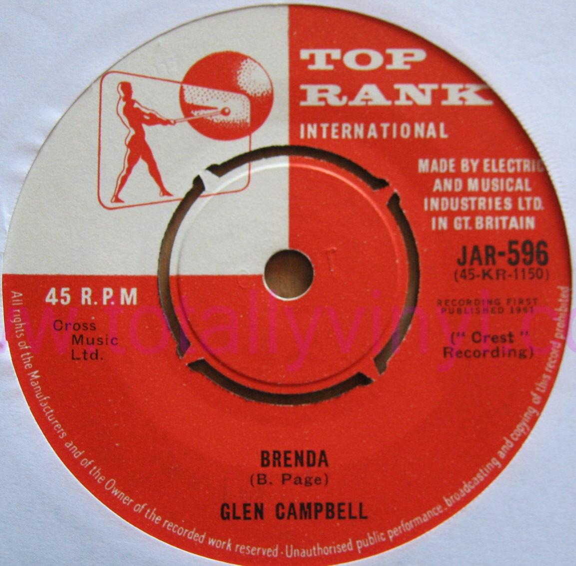 Totally Vinyl Records Campbell Glen Turn Around Look