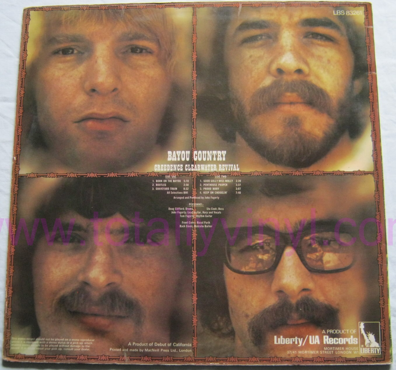 totally vinyl records creedence clearwater revival bayou country lp vinyl. Black Bedroom Furniture Sets. Home Design Ideas