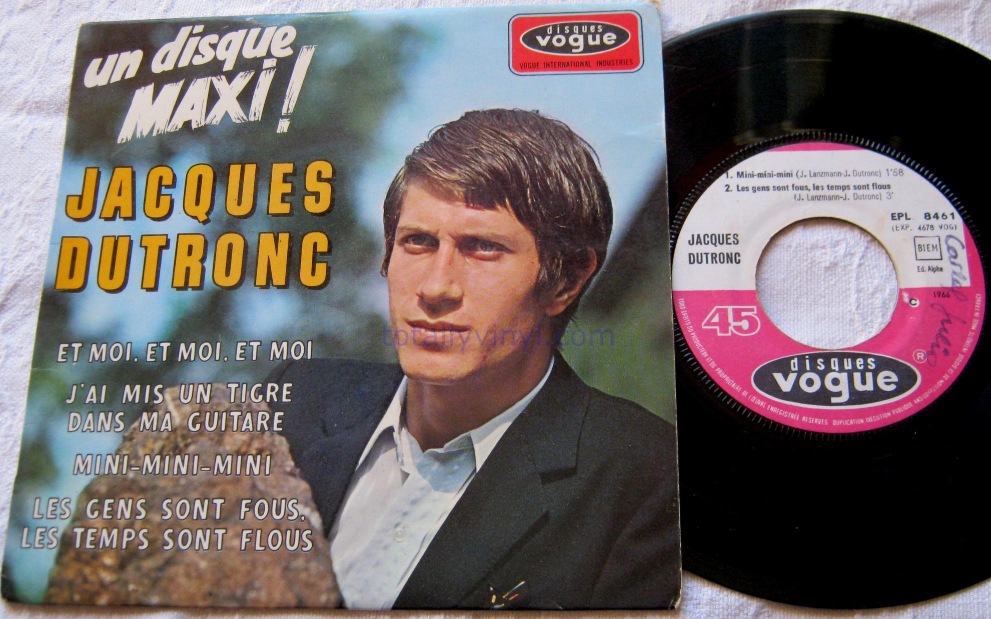 Totally Vinyl Records Dutronc Jacques Et Moi Et Moi Et Moi 7