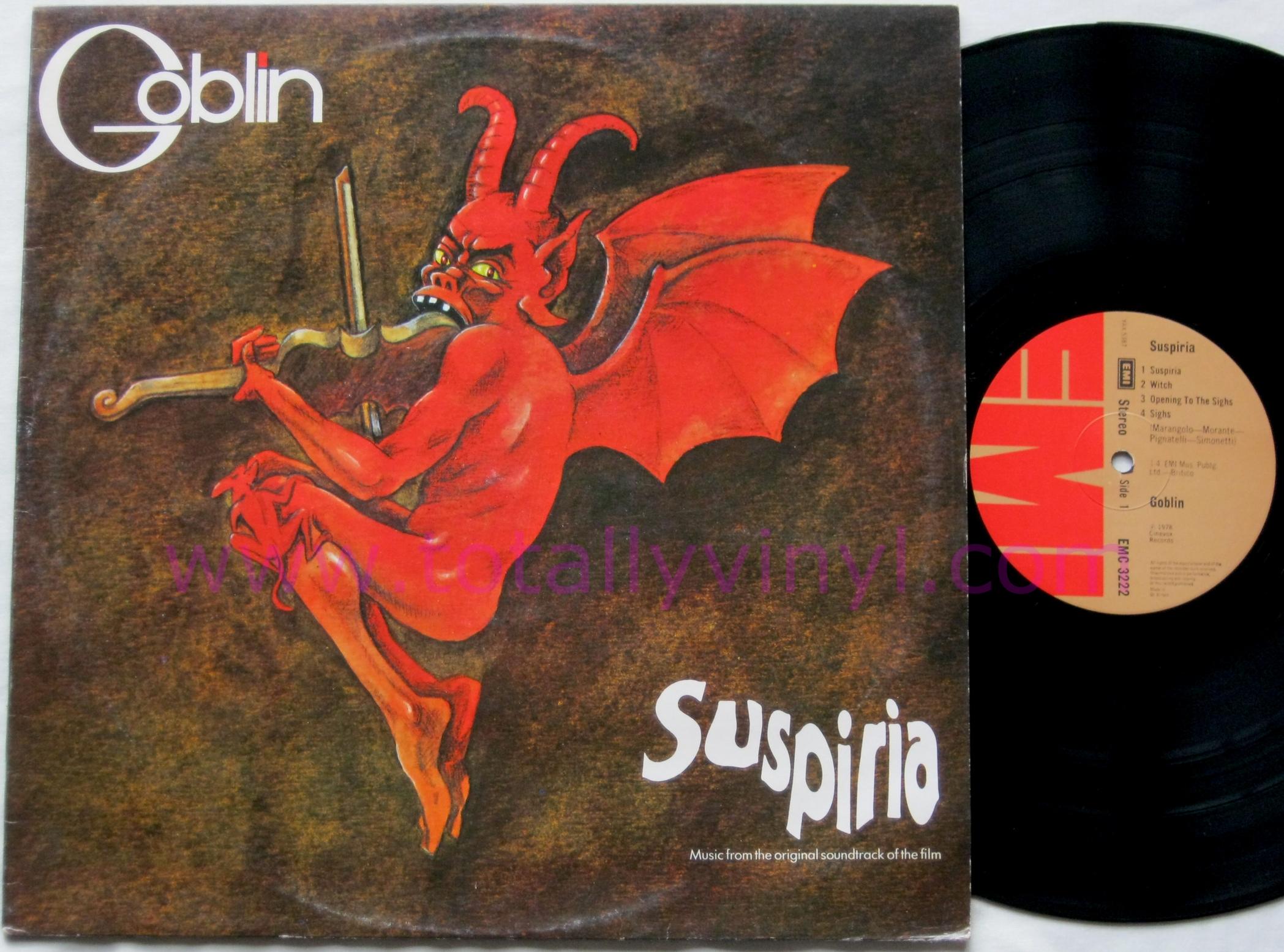 Totally Vinyl Records Goblin Suspiria Soundtrack Lp Vinyl