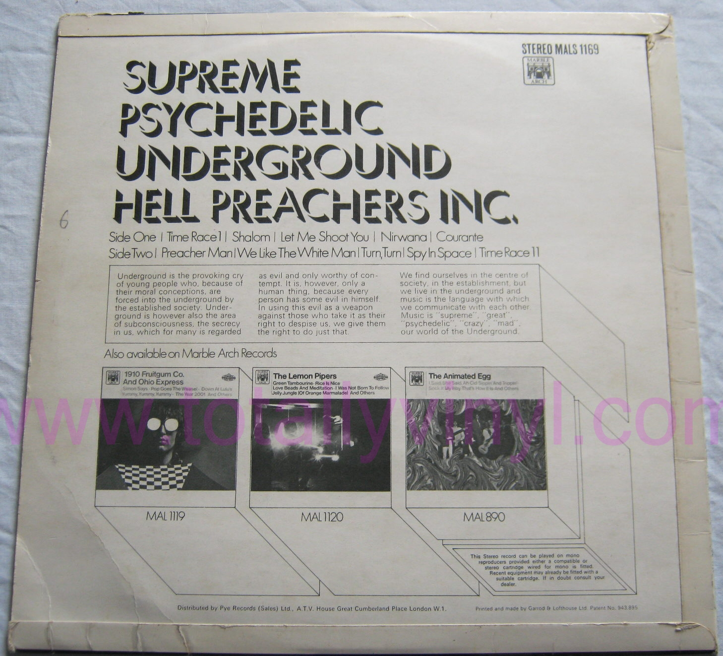 Totally Vinyl Records || Hell Preachers Inc - Supreme