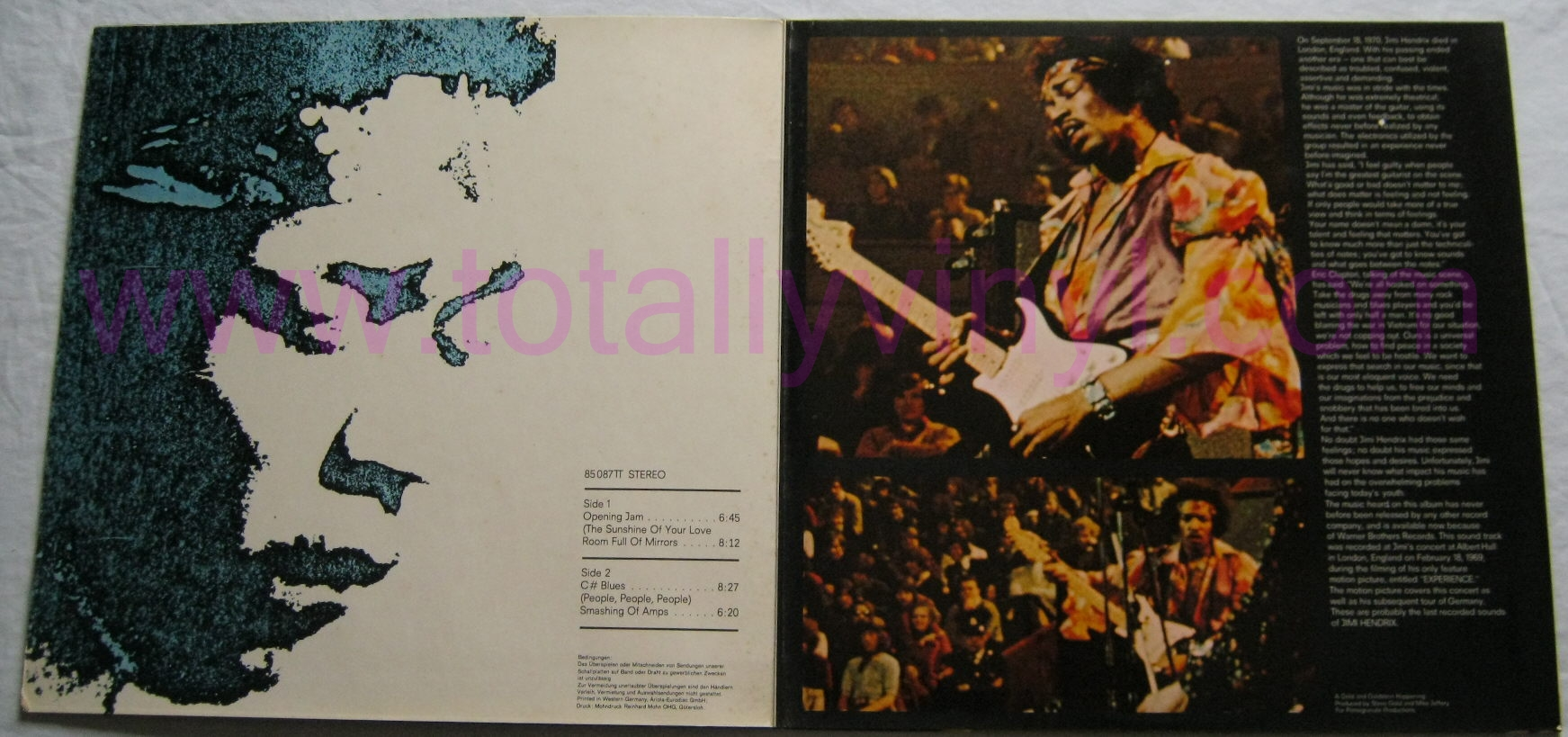 Totally Vinyl Records Hendrix Jimi Experience Lp Vinyl