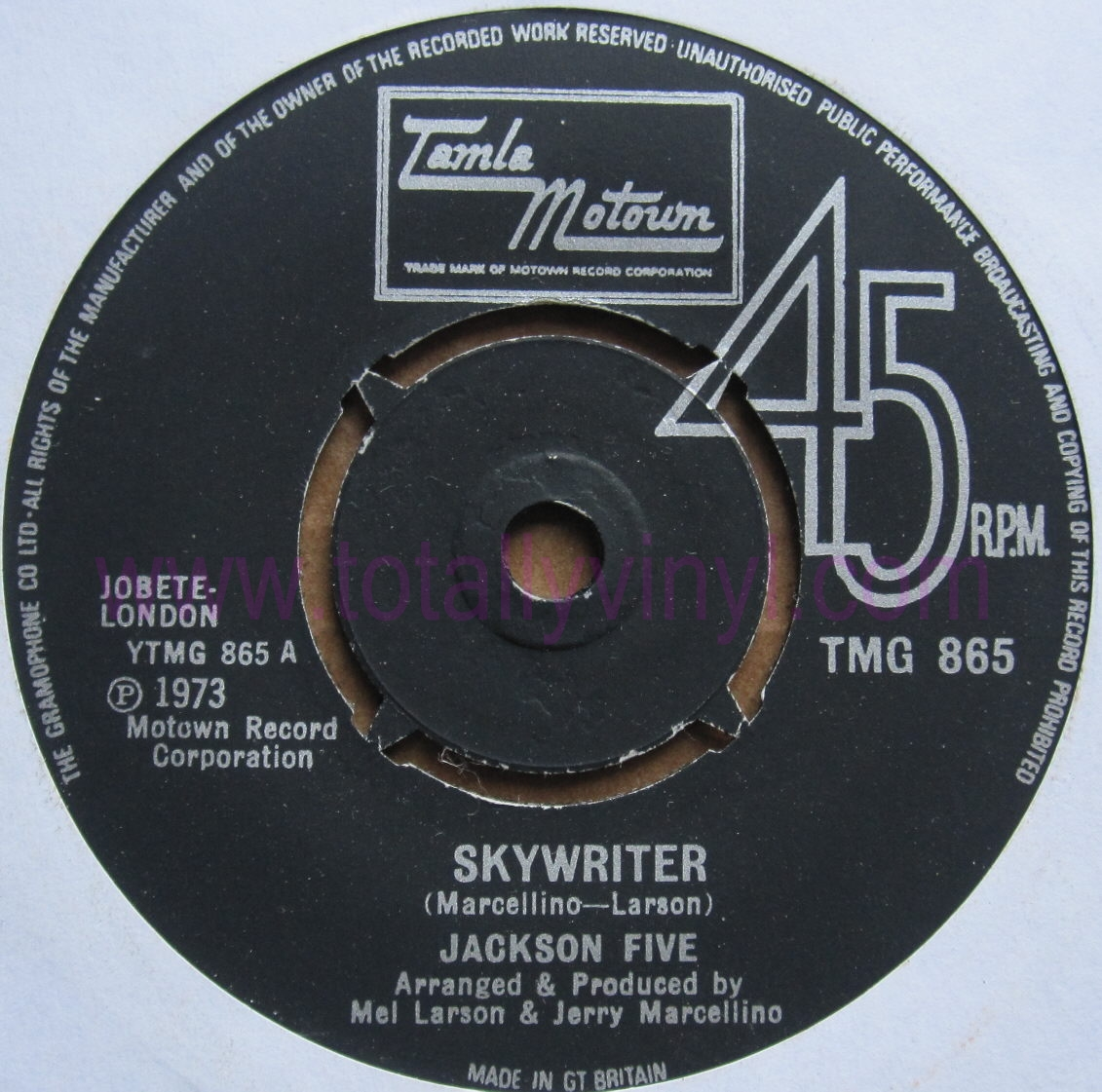 Totally Vinyl Records Jackson Five Skywriter 7 Inch Vinyl