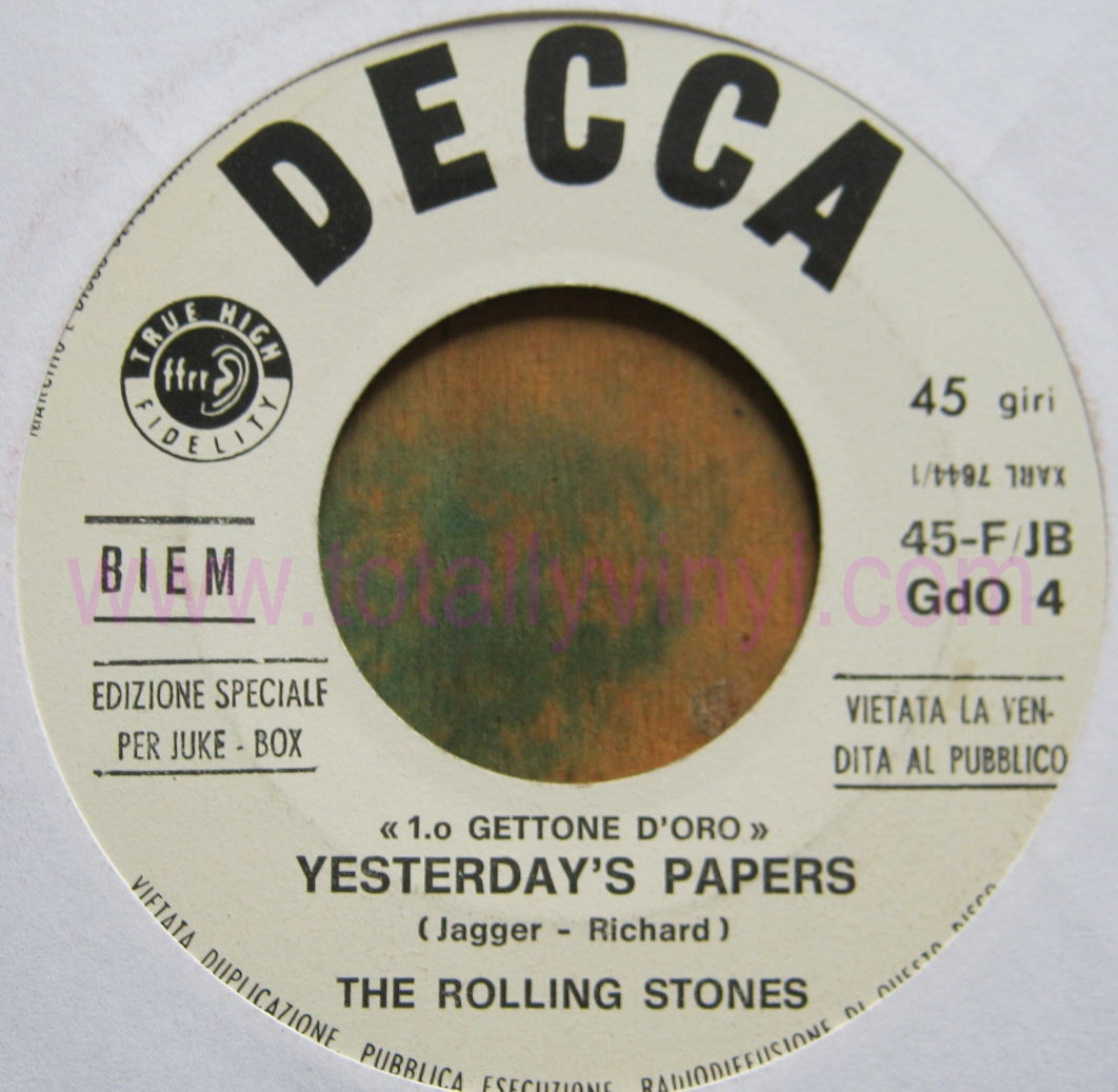 Totally Vinyl Records Rolling Stones The Yesterday S