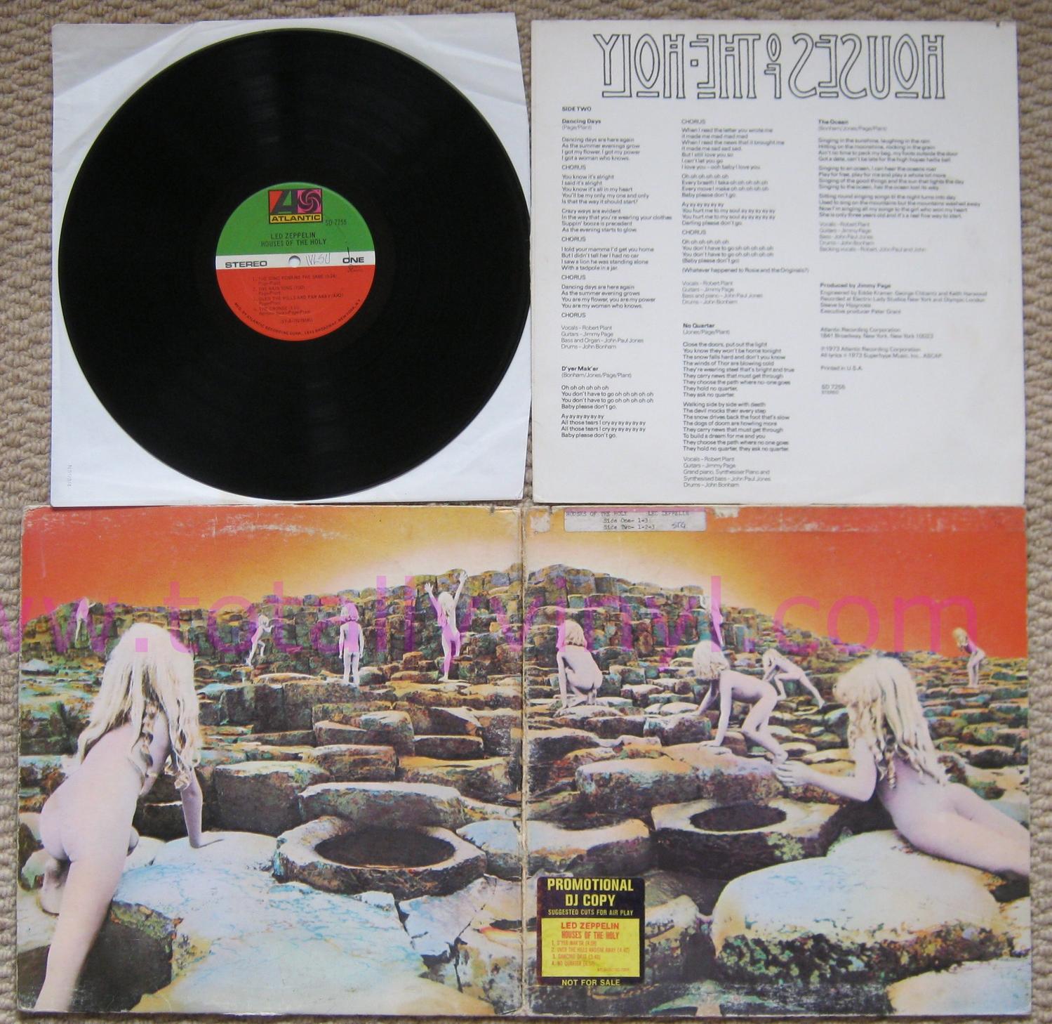 Totally Vinyl Records Led Zeppelin Houses Of The Holy