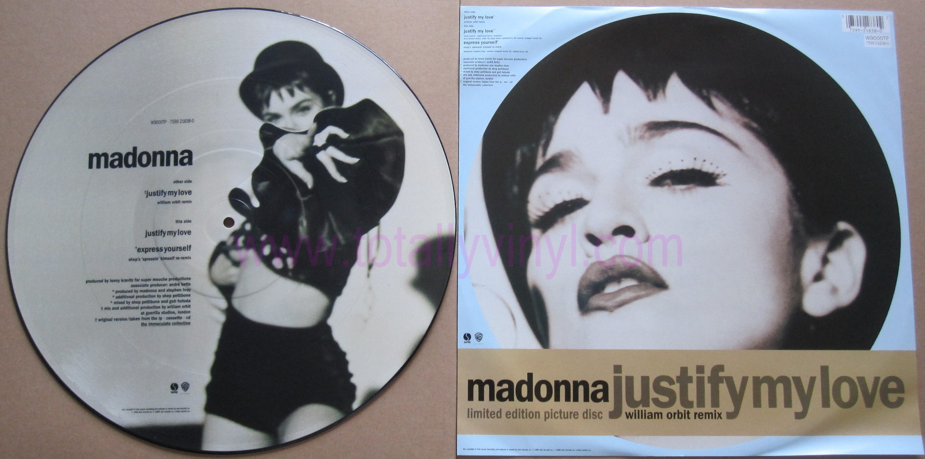 Totally Vinyl Records Madonna Justify My Love