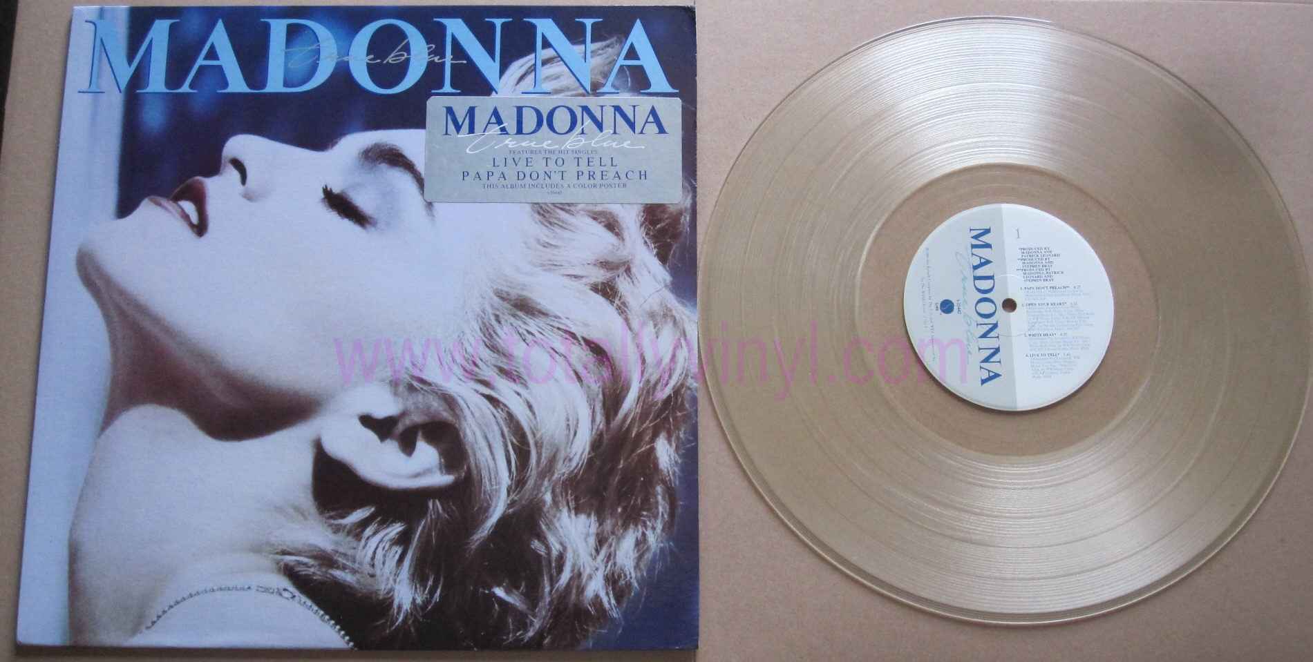 Totally Vinyl Records Madonna True Blue Coloured