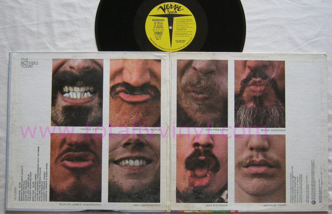 Totally Vinyl Records Mothers Of Invention The