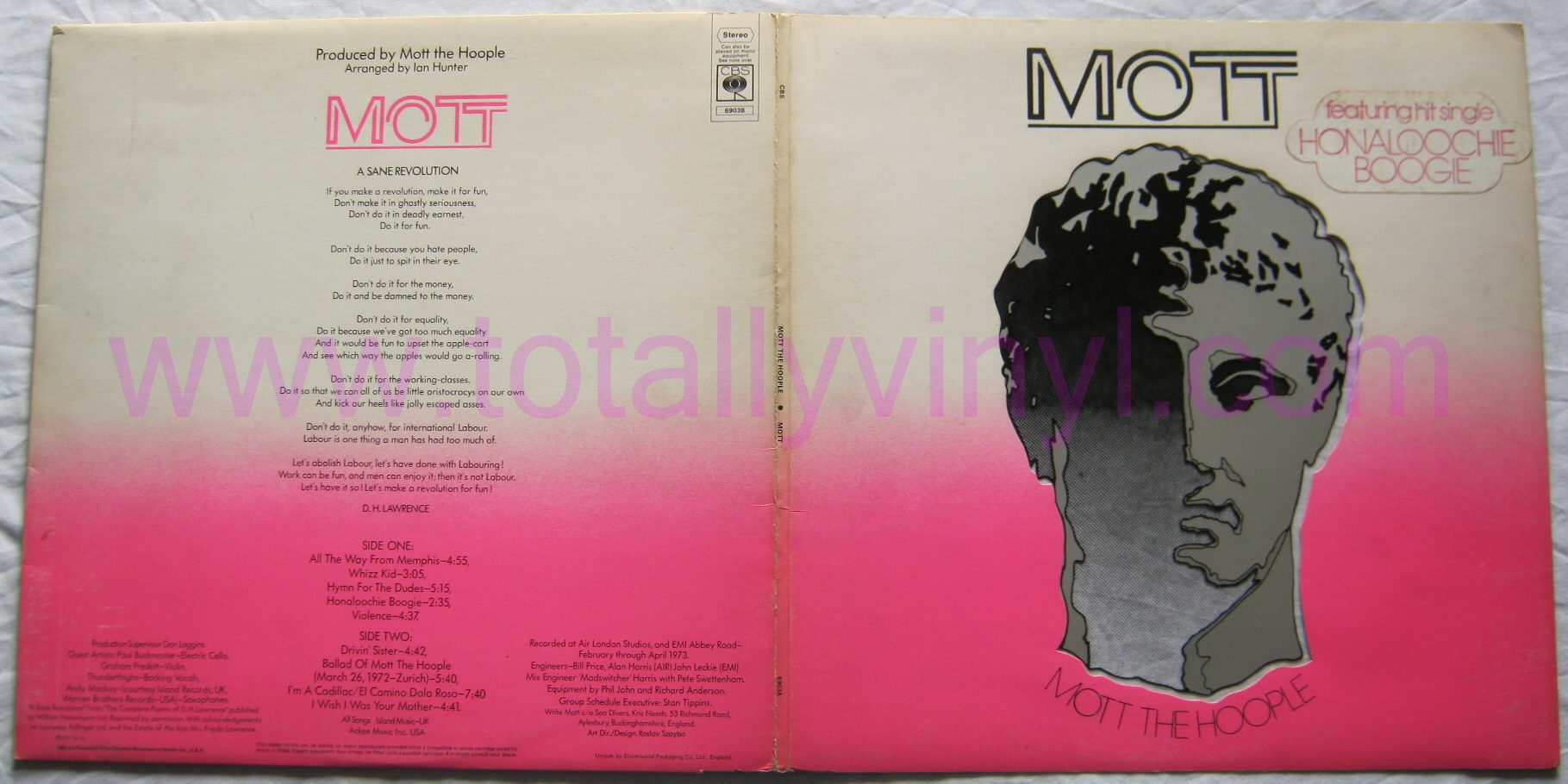 Totally Vinyl Records Mott The Hoople Mott Lp Special
