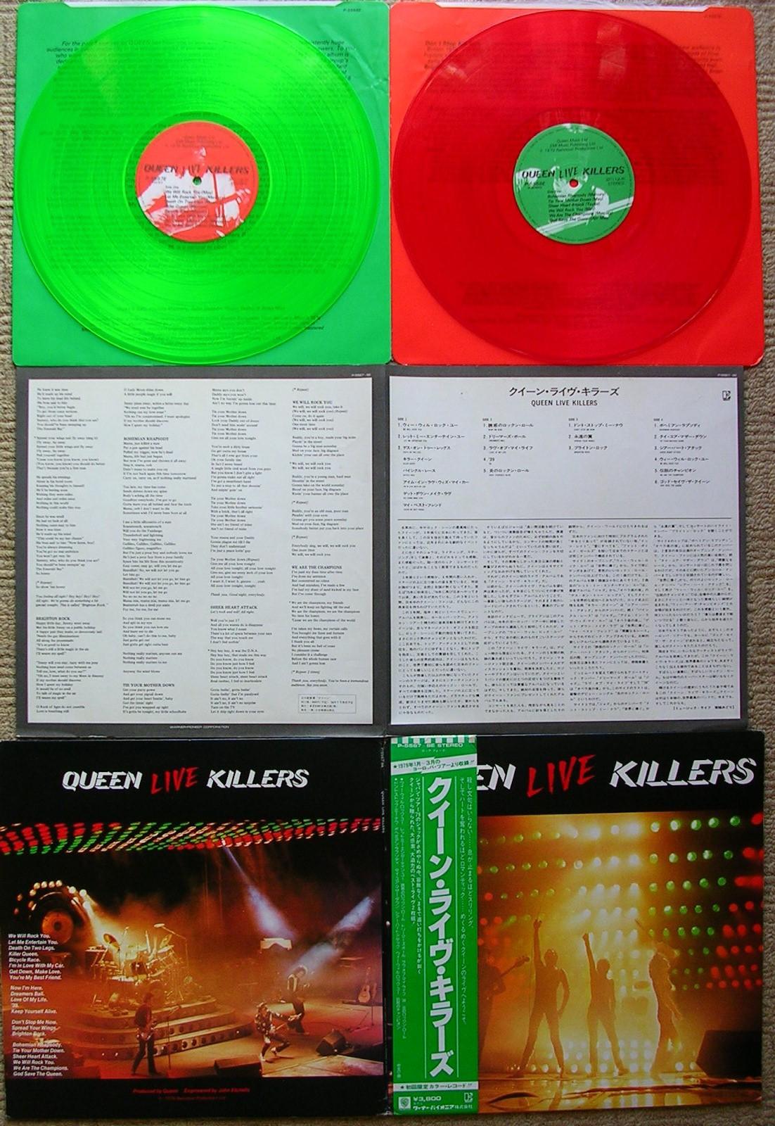 totally vinyl records queen live killers 2 lp coloured vinyl. Black Bedroom Furniture Sets. Home Design Ideas