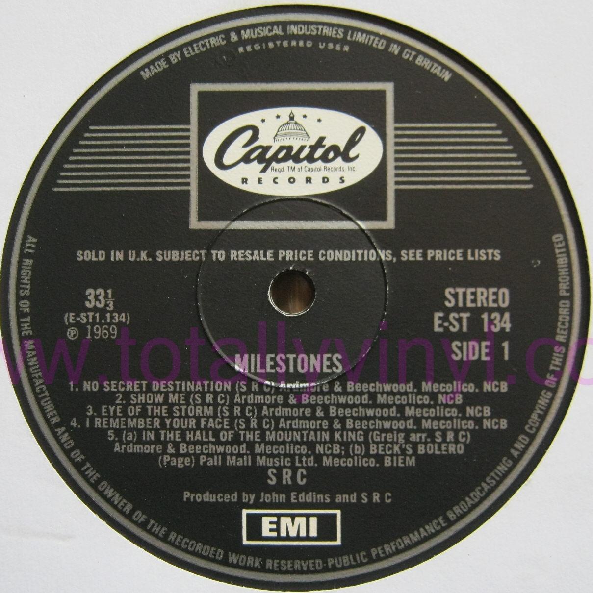 Totally Vinyl Records S R C Milestones Lp Vinyl