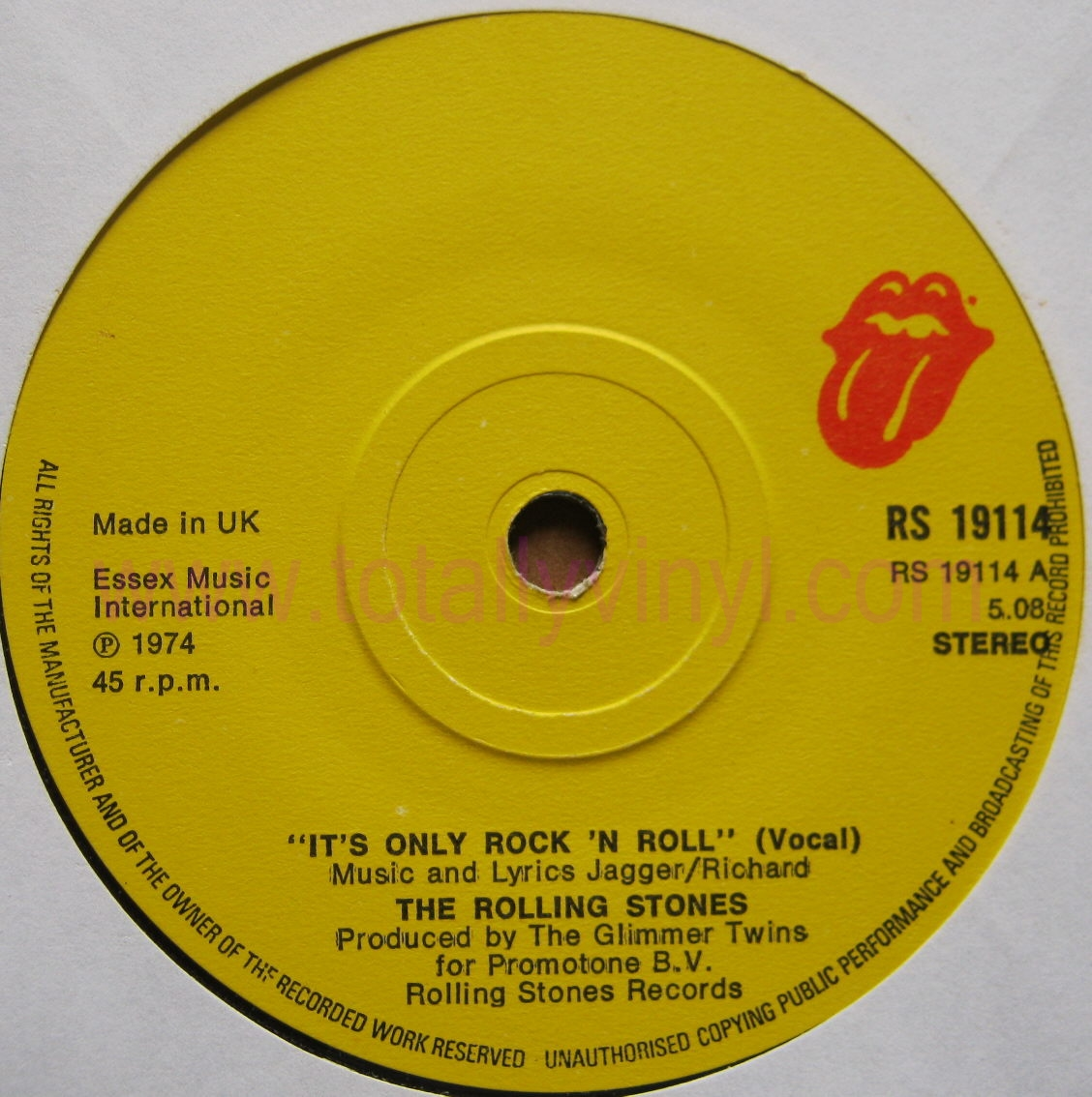 Rolling Stones Its Only Rock And Roll Label  rolling stonesRolling Stones Its Only Rock And Roll