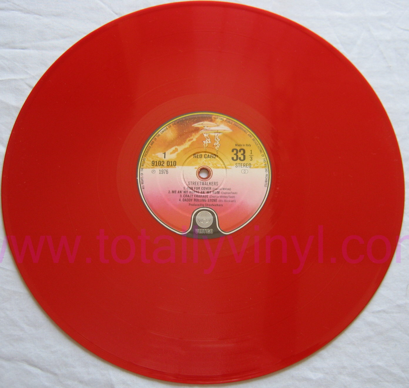 Totally Vinyl Records Streetwalkers Red Card Coloured