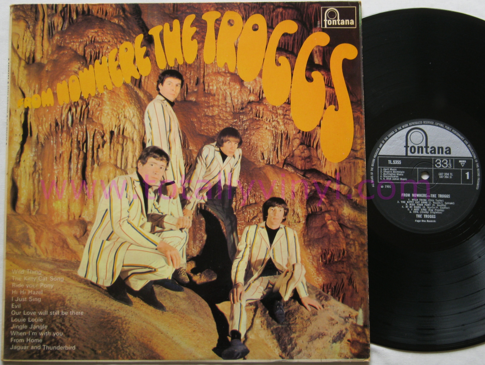 Totally Vinyl Records Troggs The From Nowhere Lp Vinyl