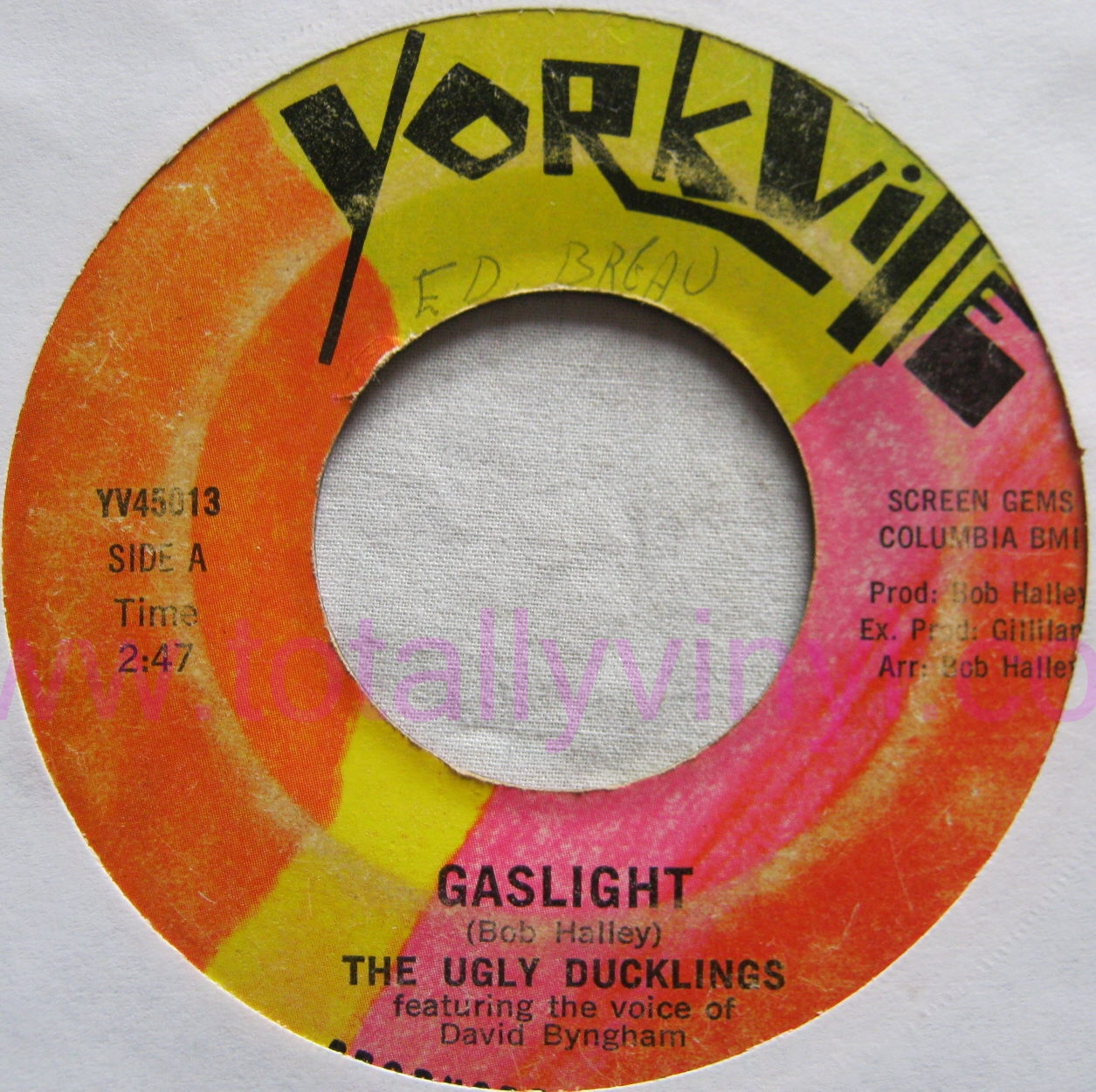 Totally Vinyl Records Ugly Ducklings The Gaslight 7
