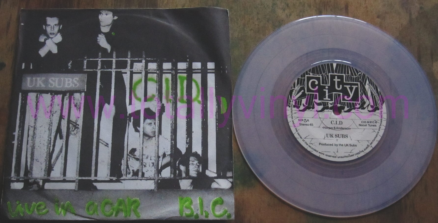 Totally Vinyl Records U K Subs C I D 7 Inch