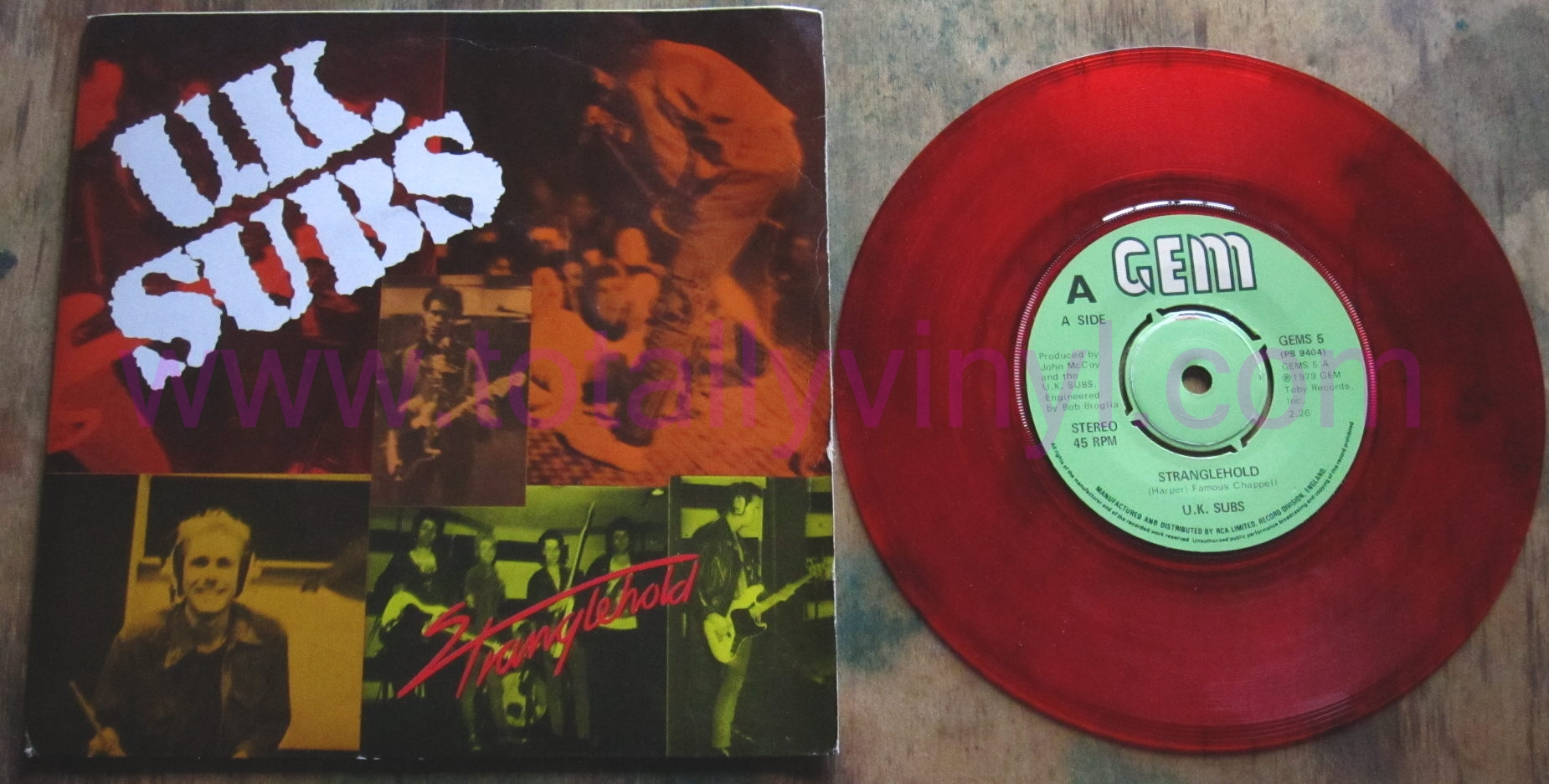 Totally Vinyl Records U K Subs Stranglehold 7 Inch