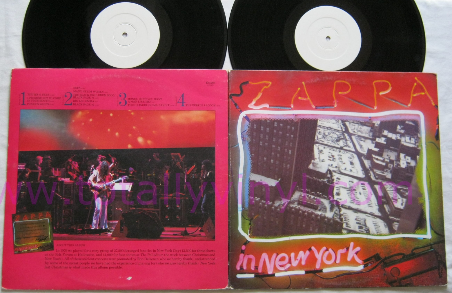 Totally Vinyl Records Zappa Frank In New York Lp Vinyl