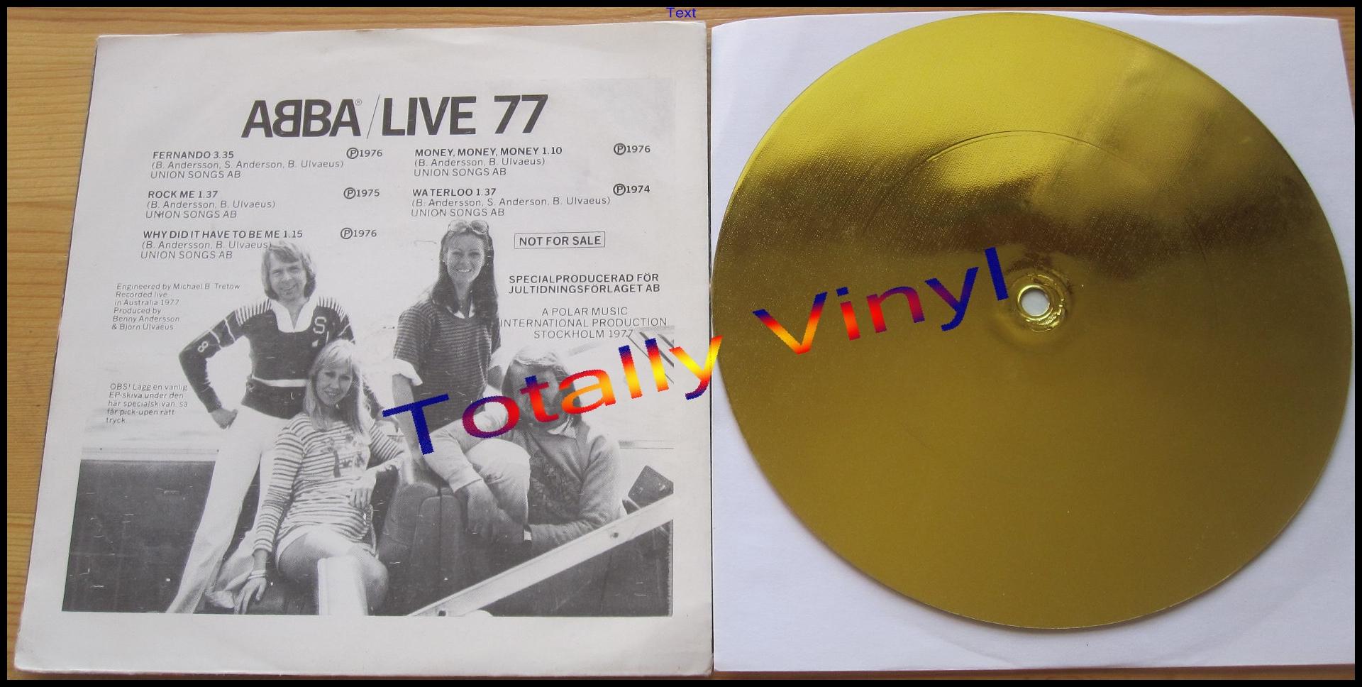 Totally Vinyl Records Abba Live 77 Fernando 3 35