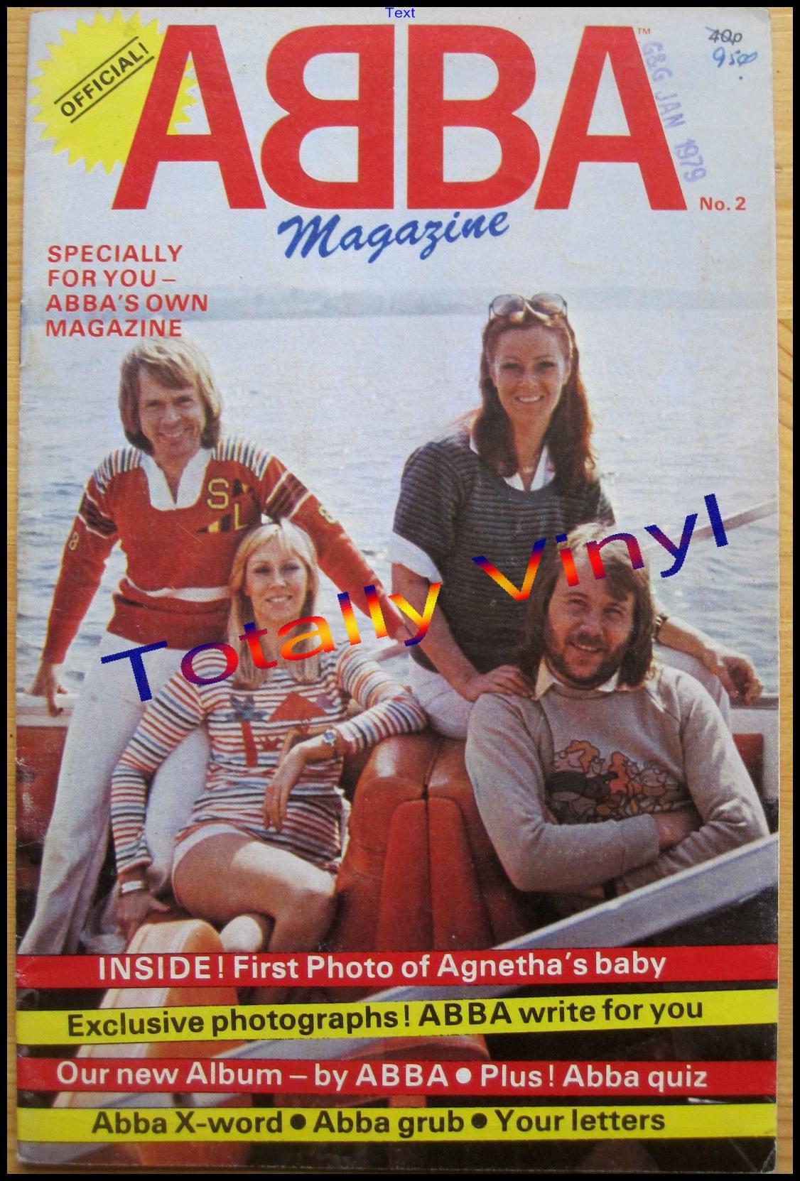 Totally Vinyl Records Abba Abba Magazine No 2