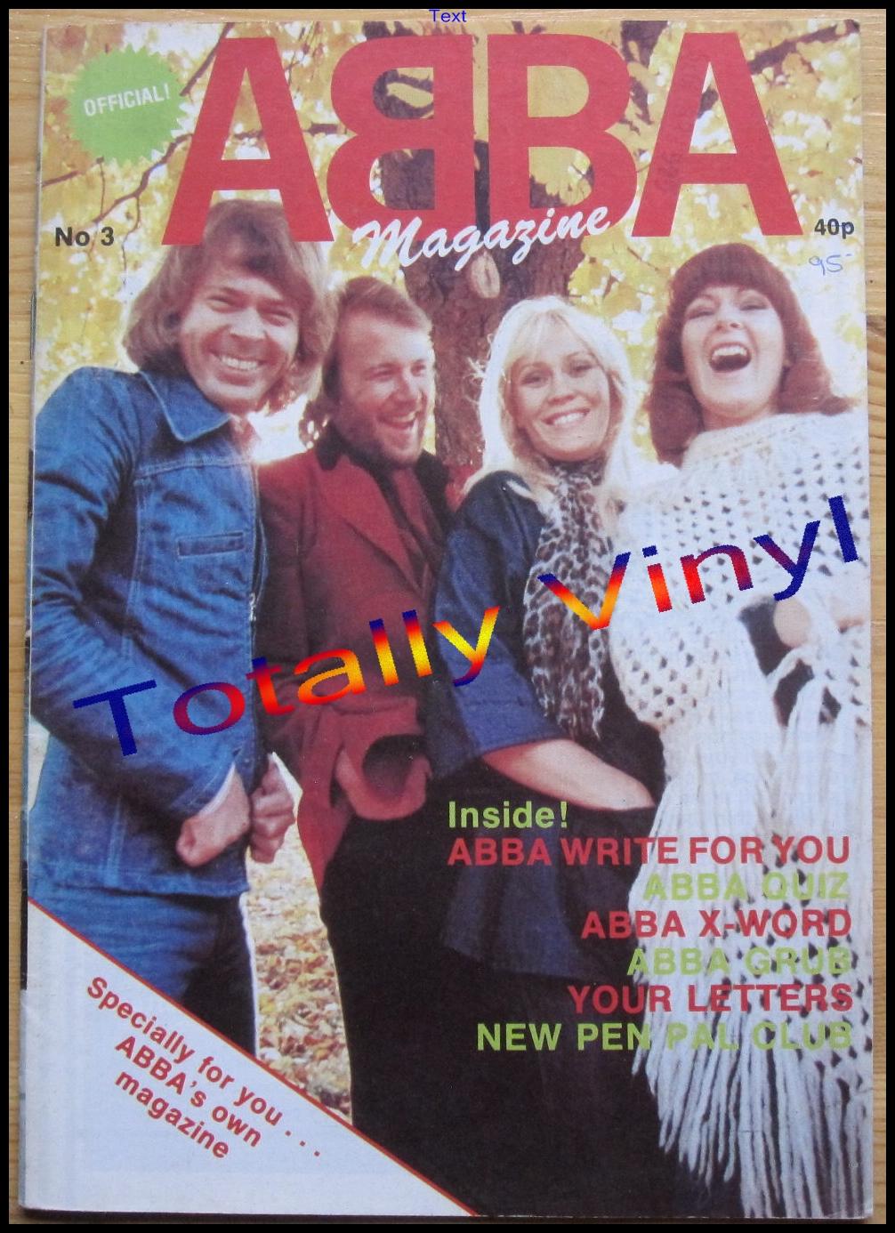 Totally Vinyl Records Abba Abba Magazine No 3