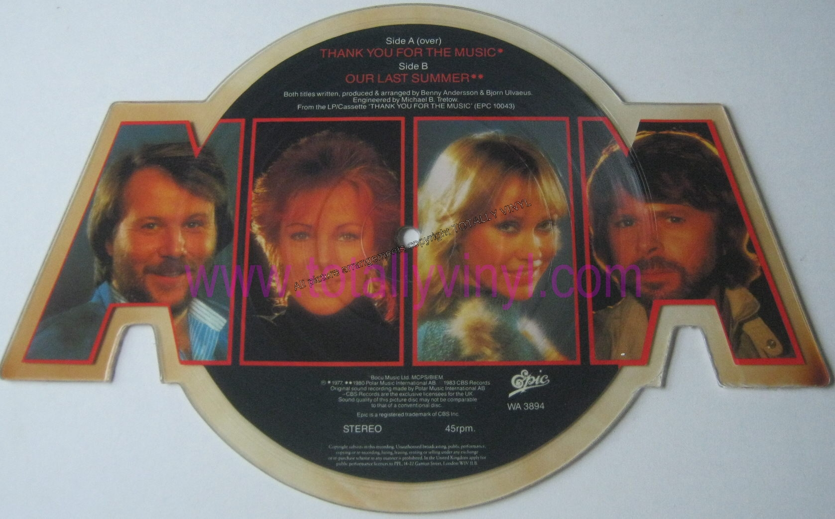 Totally Vinyl Records Abba Thank You For The Music 7