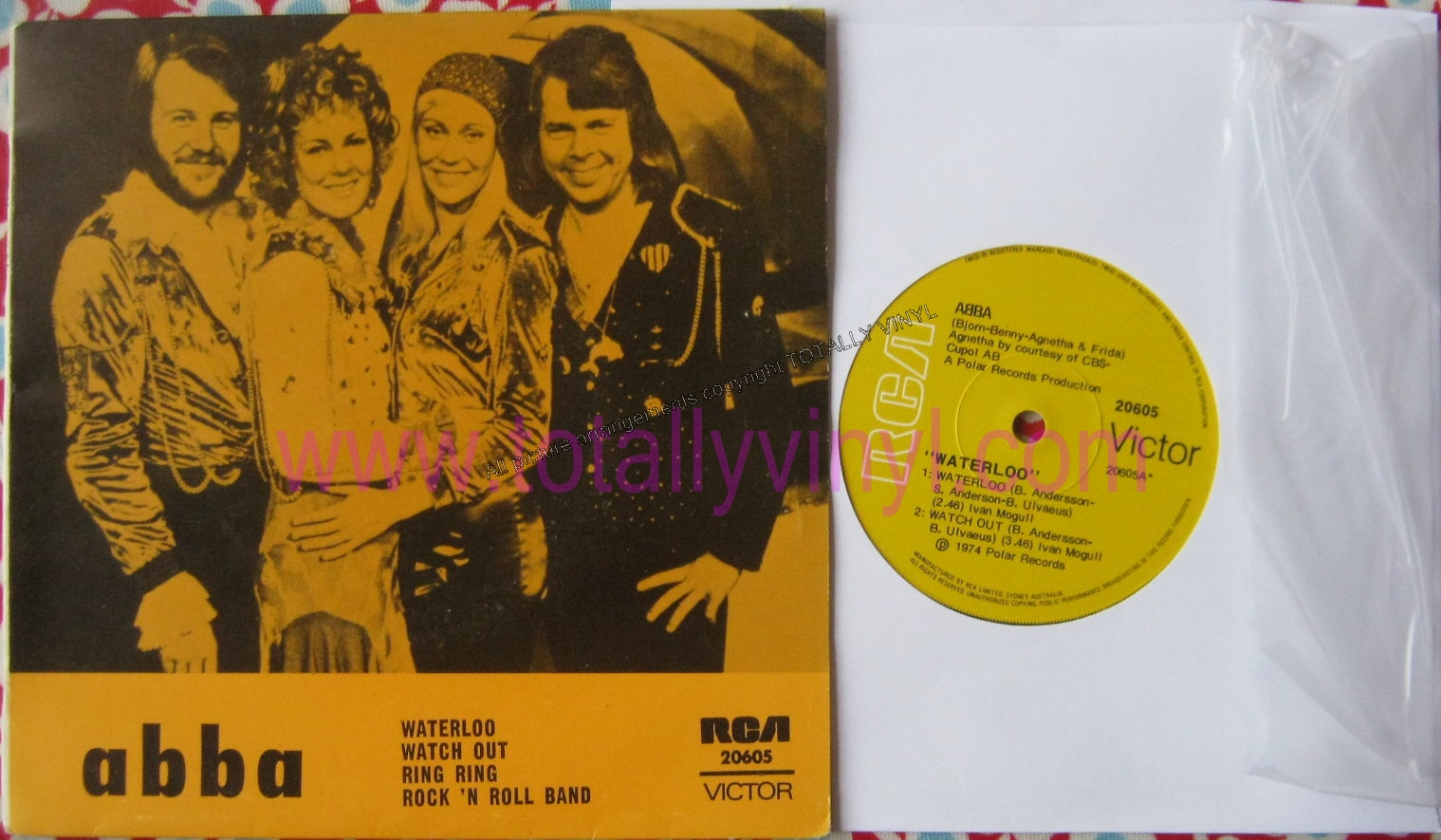Totally Vinyl Records Abba Ep Waterloo Watch Out
