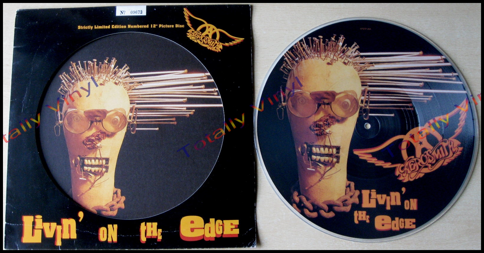 Totally Vinyl Records Aerosmith Livin On The Edge Lp
