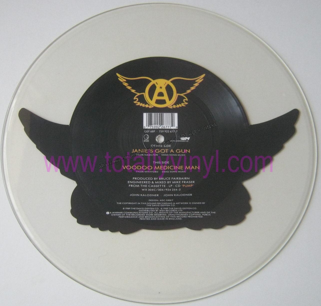Totally Vinyl Records Aerosmith Janie S Got A Gun 7