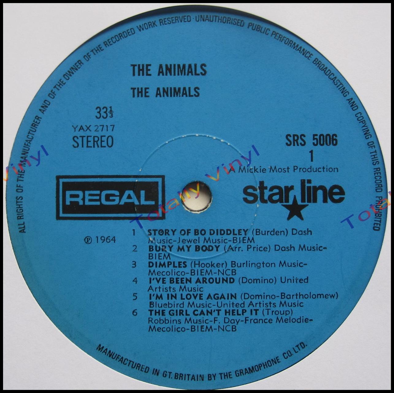 Totally Vinyl Records Animals The The Animals Lp