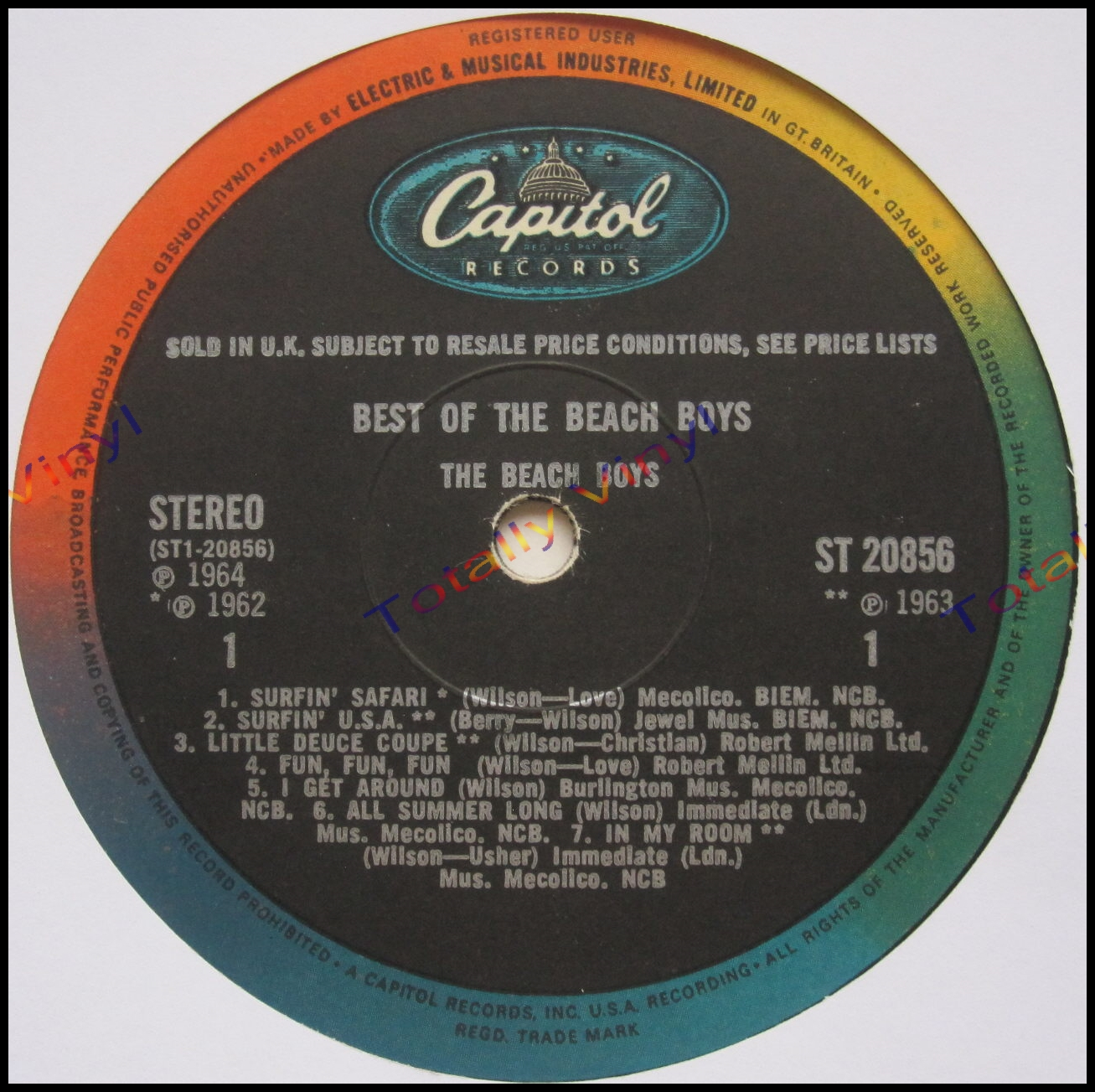 Totally Vinyl Records Beach Boys The Best Of The