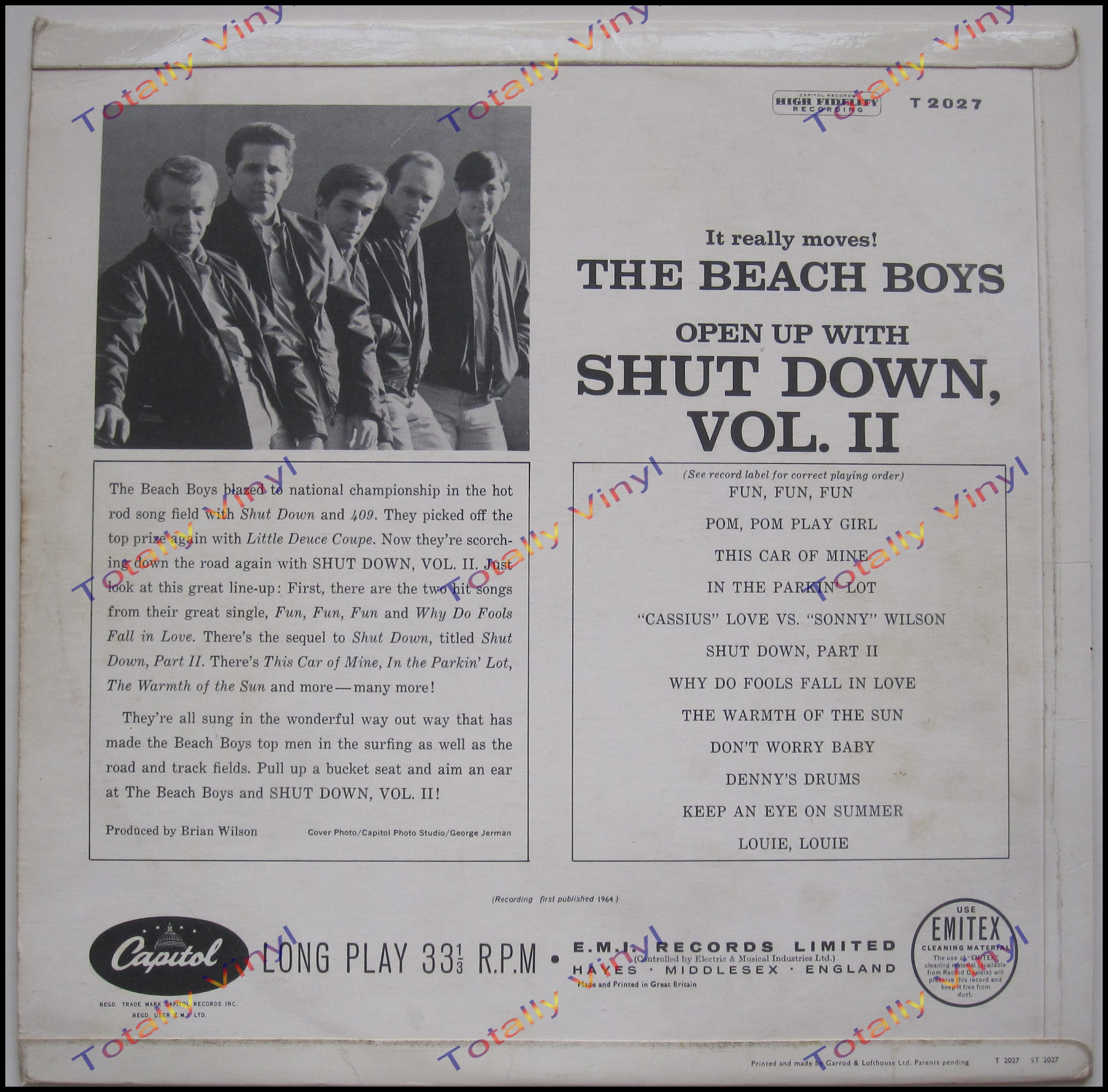 Totally Vinyl Records Beach Boys The Shut Down Vol 2 Lp