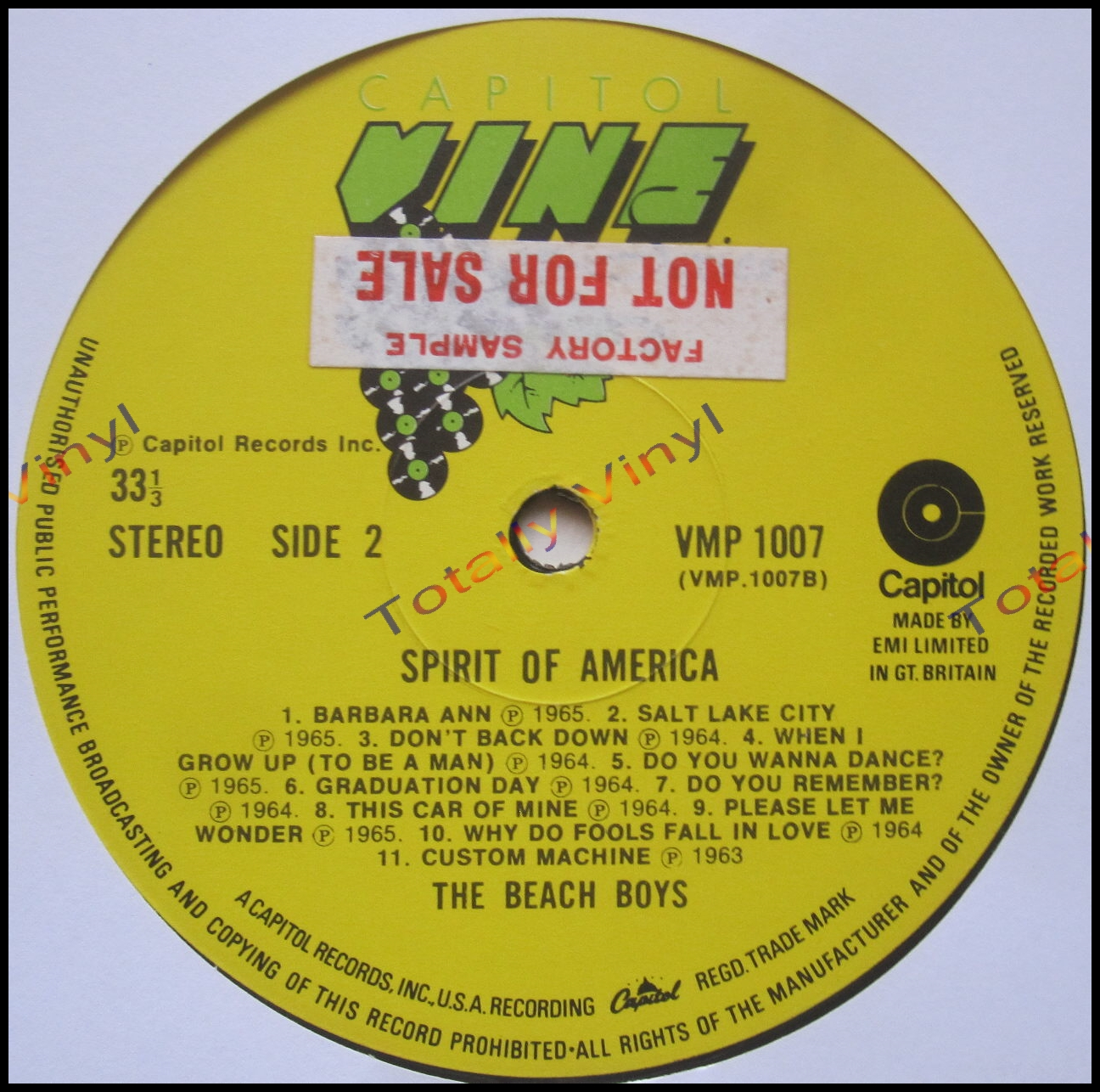 Totally Vinyl Records Beach Boys The Spirit Of