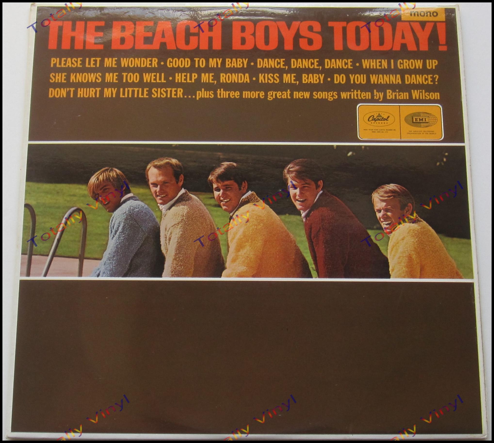 totally vinyl records beach boys the the beach boys today lp. Black Bedroom Furniture Sets. Home Design Ideas