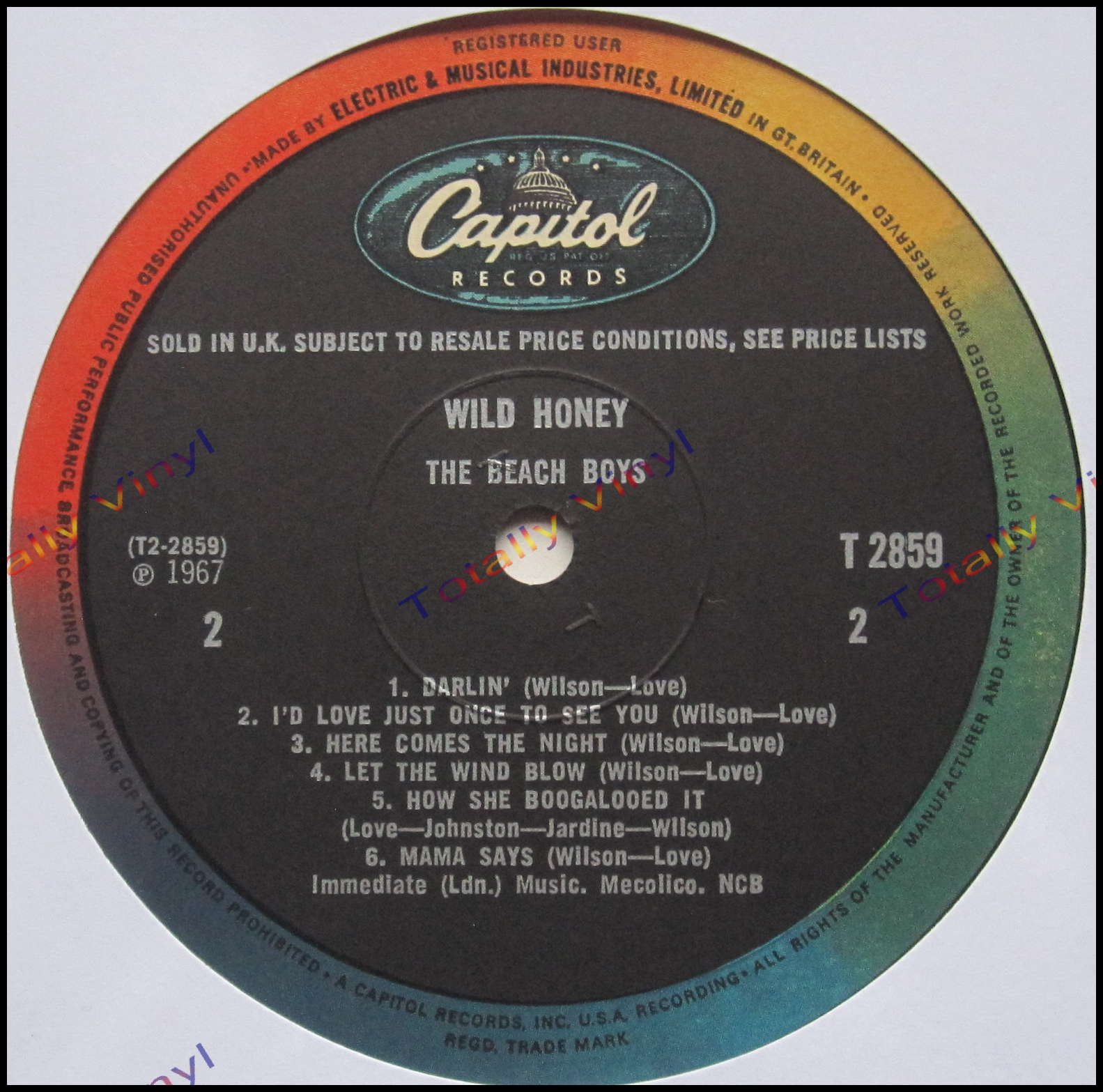 Totally Vinyl Records Beach Boys The Wild Honey Lp