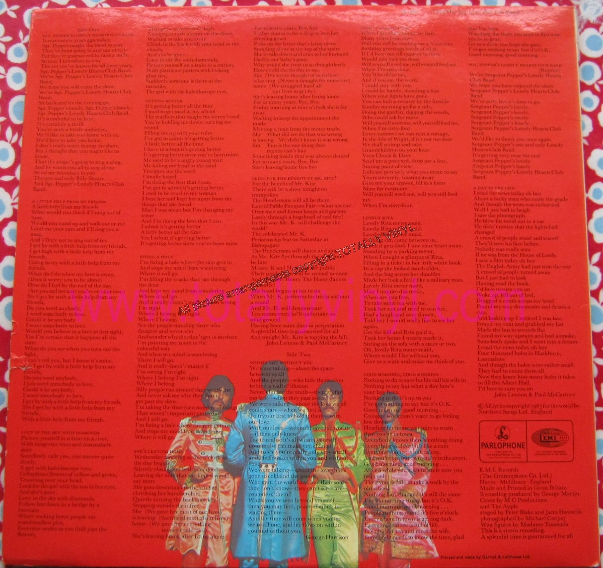 Totally Vinyl Records Beatles The Sgt Pepper S