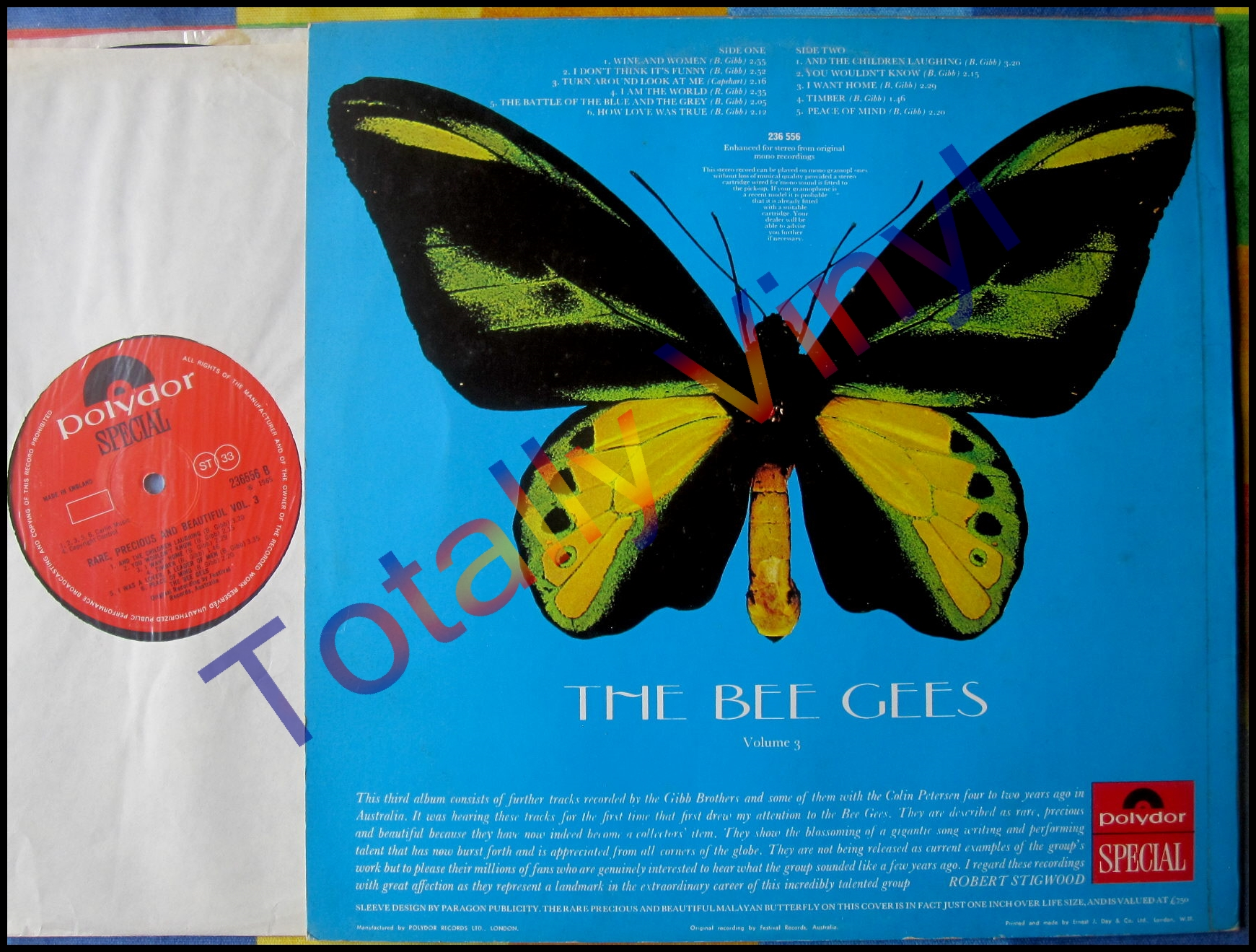 Totally Vinyl Records Bee Gees Rare Precious And