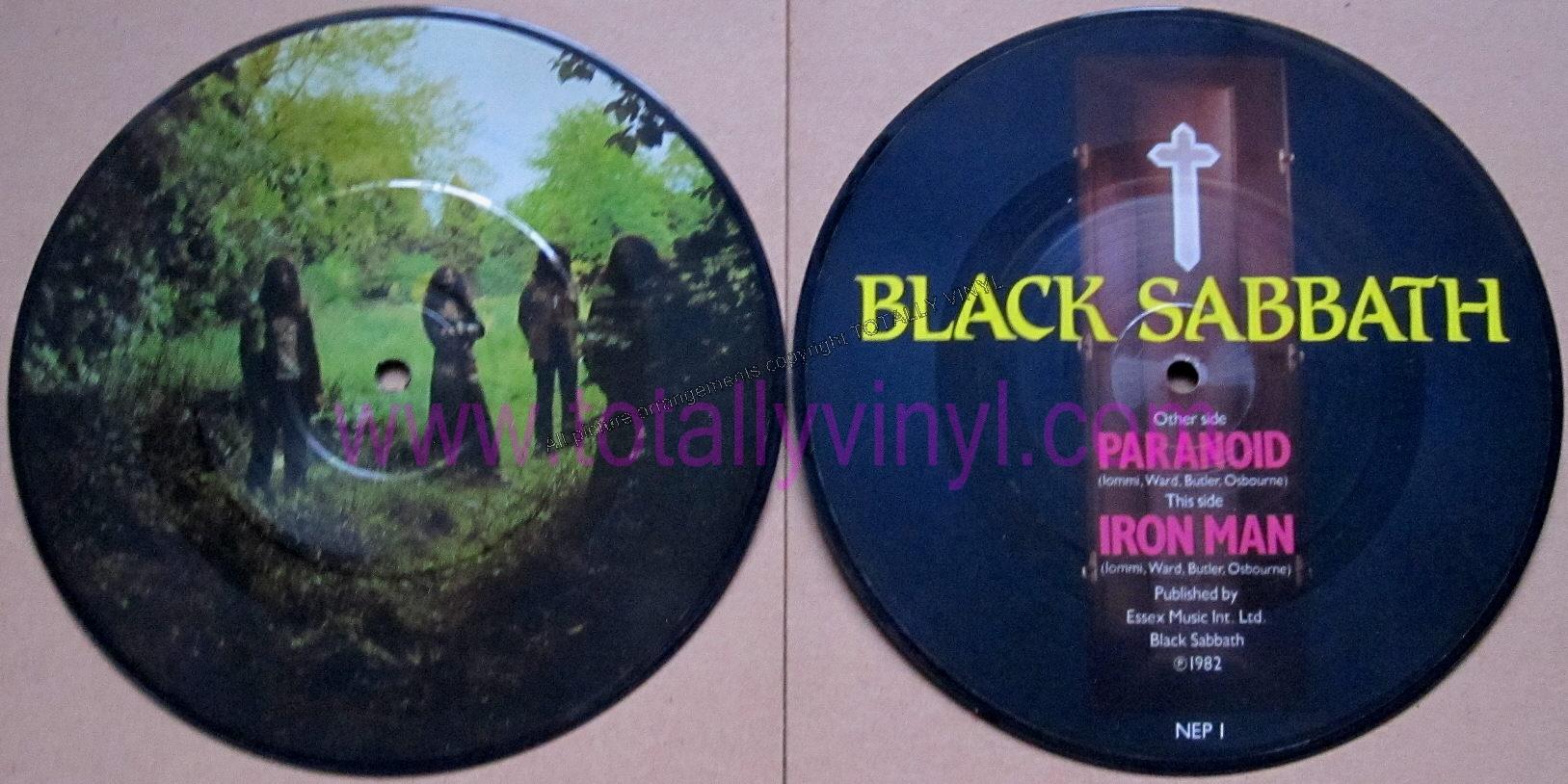 Totally Vinyl Records Black Sabbath Paranoid 7 Inch