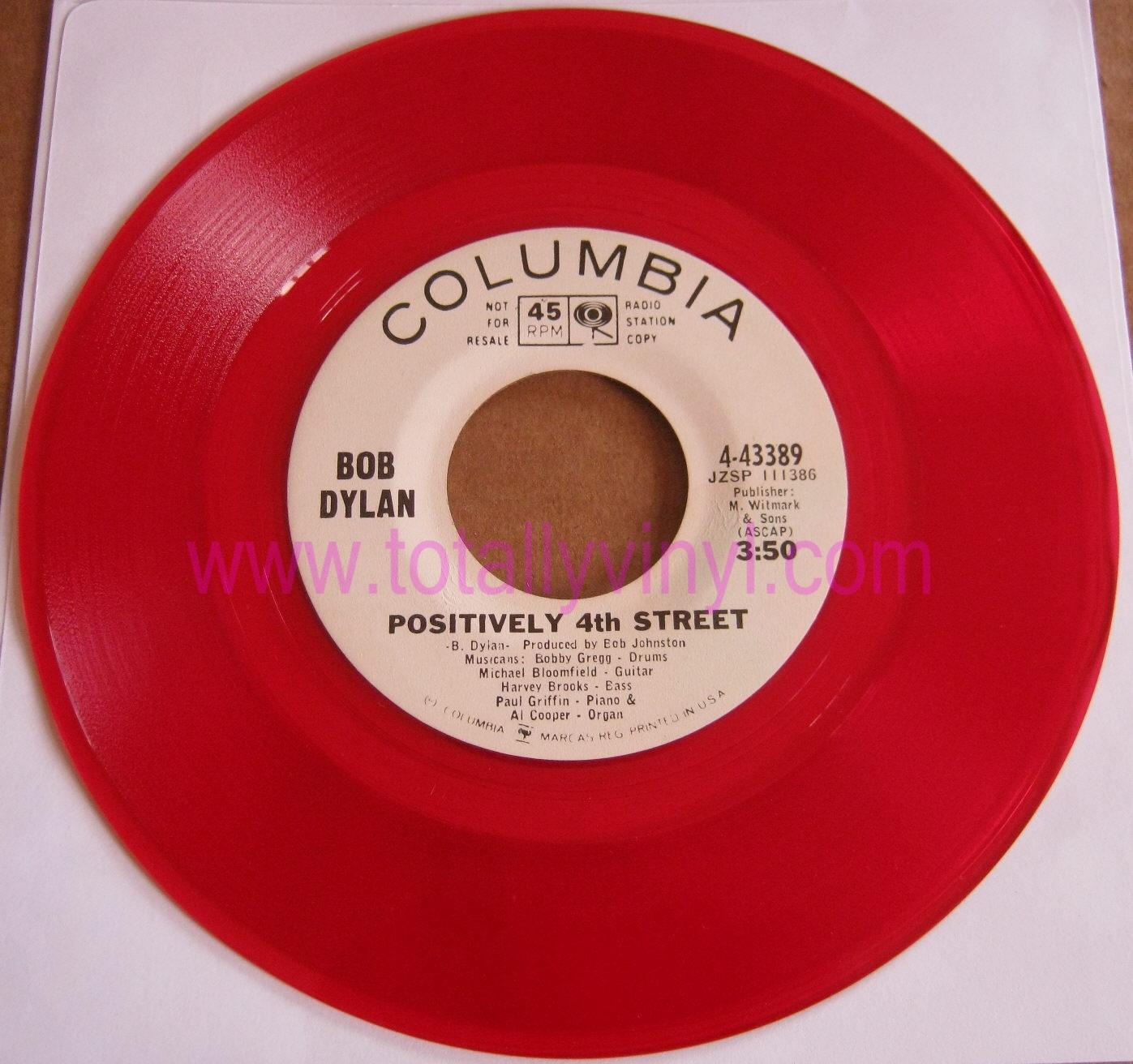 Totally Vinyl Records Dylan Bob Positively 4th