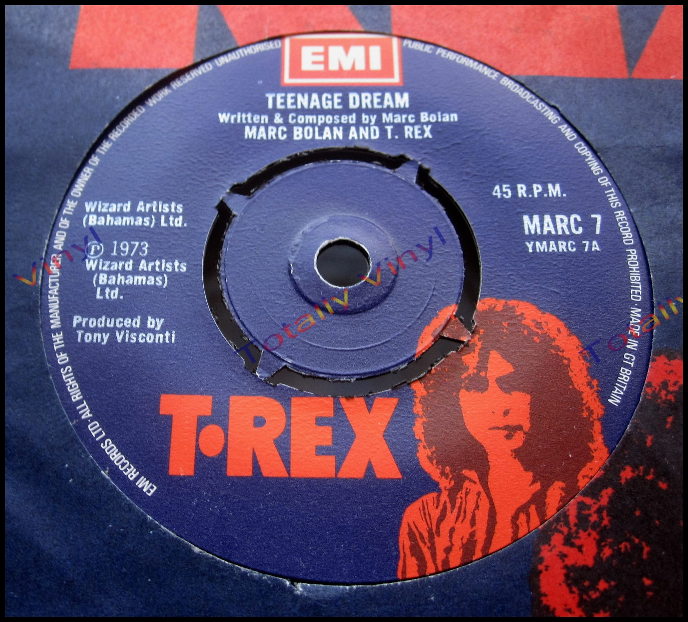 Totally Vinyl Records Bolan And T Rex Marc Teenage