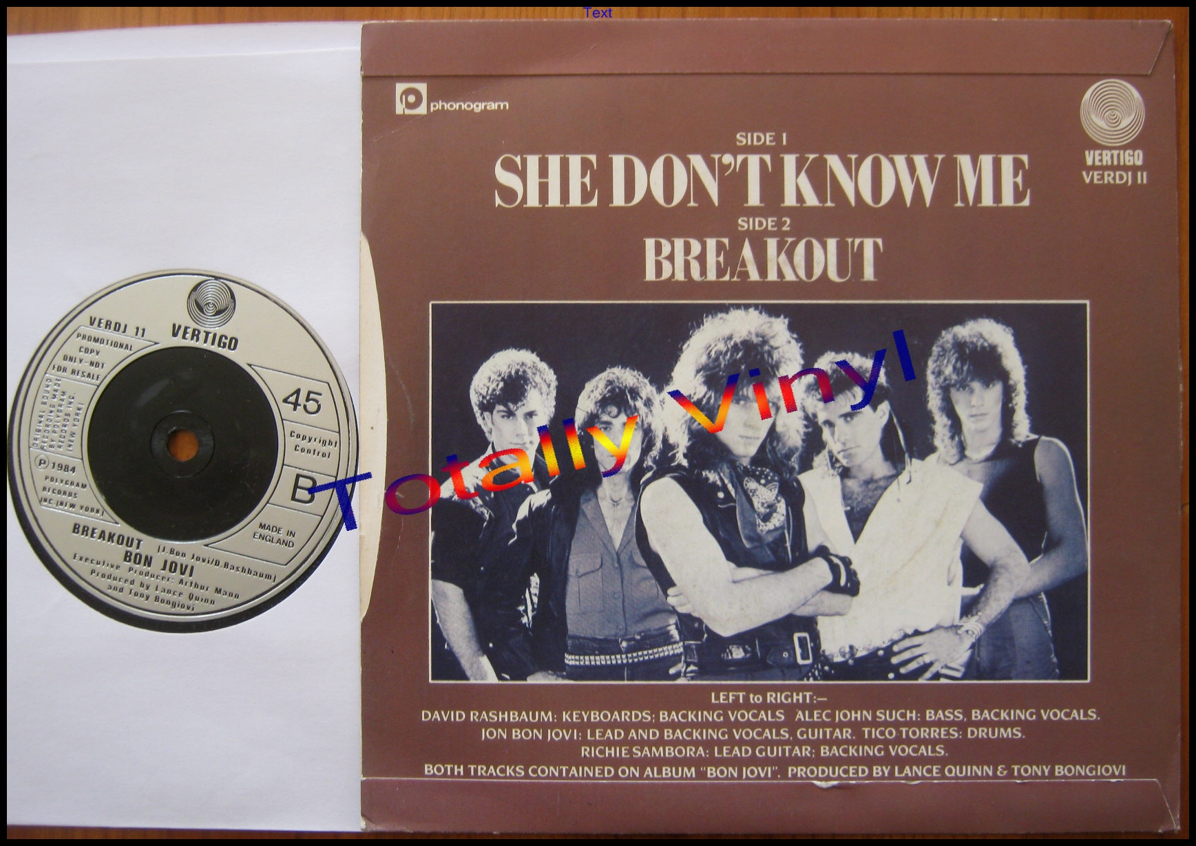 Totally Vinyl Records Bon Jovi She Don T Know Me