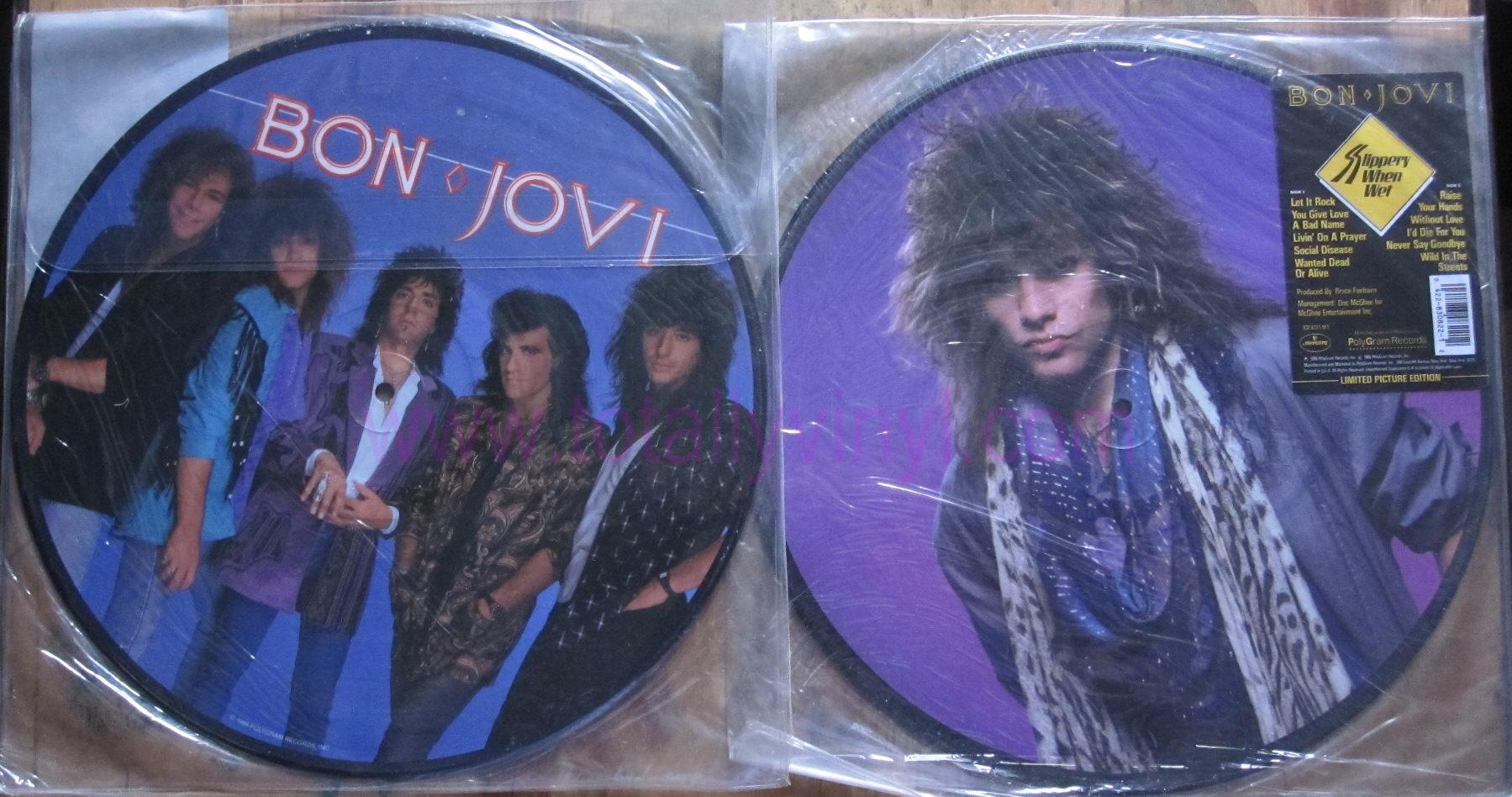 Totally Vinyl Records Bon Jovi Slippery When Wet Lp