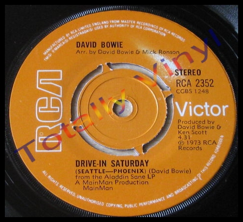 Totally Vinyl Records Bowie David Drive In Saturday