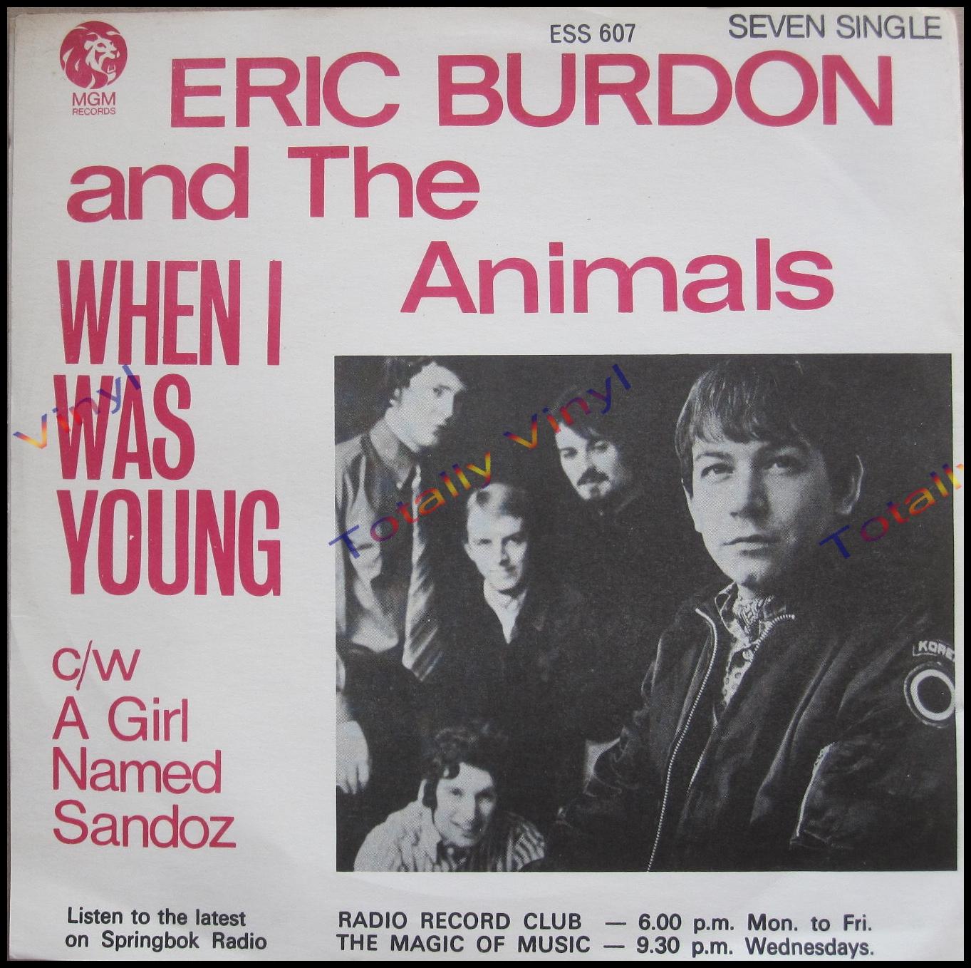 Totally Vinyl Records Burdon And The Animals Eric