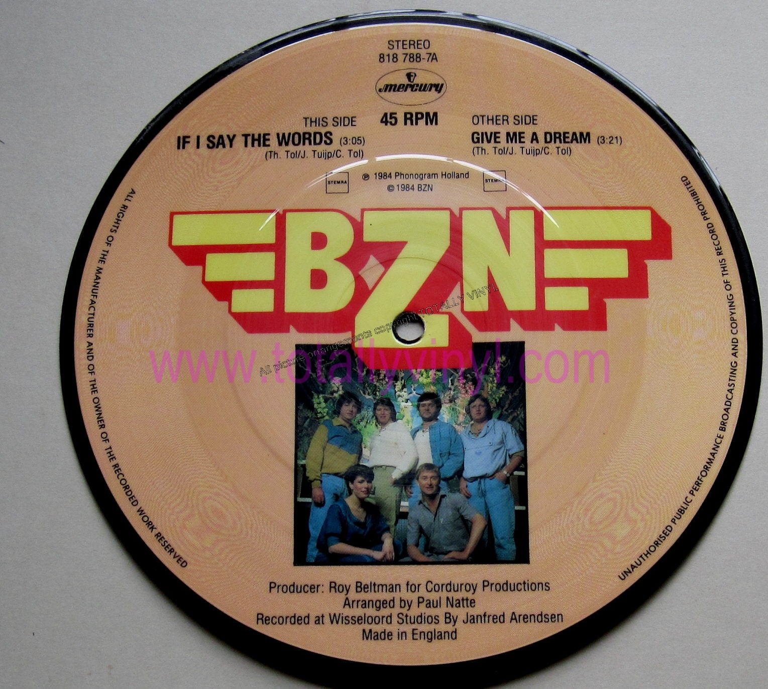 Totally Vinyl Records Bzn If I Say The Words 7 Inch