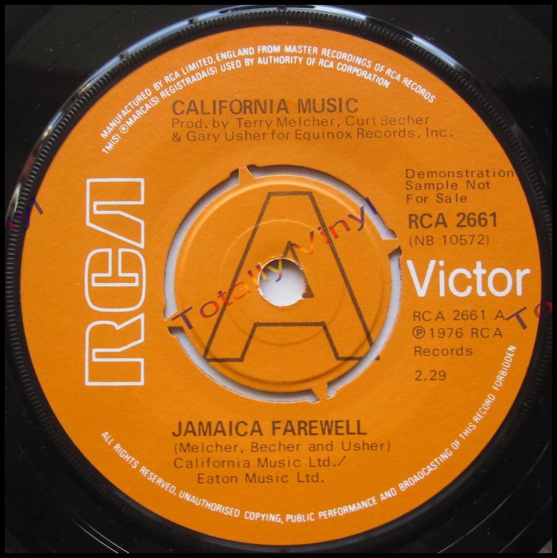 Totally Vinyl Records California Music Jamaica